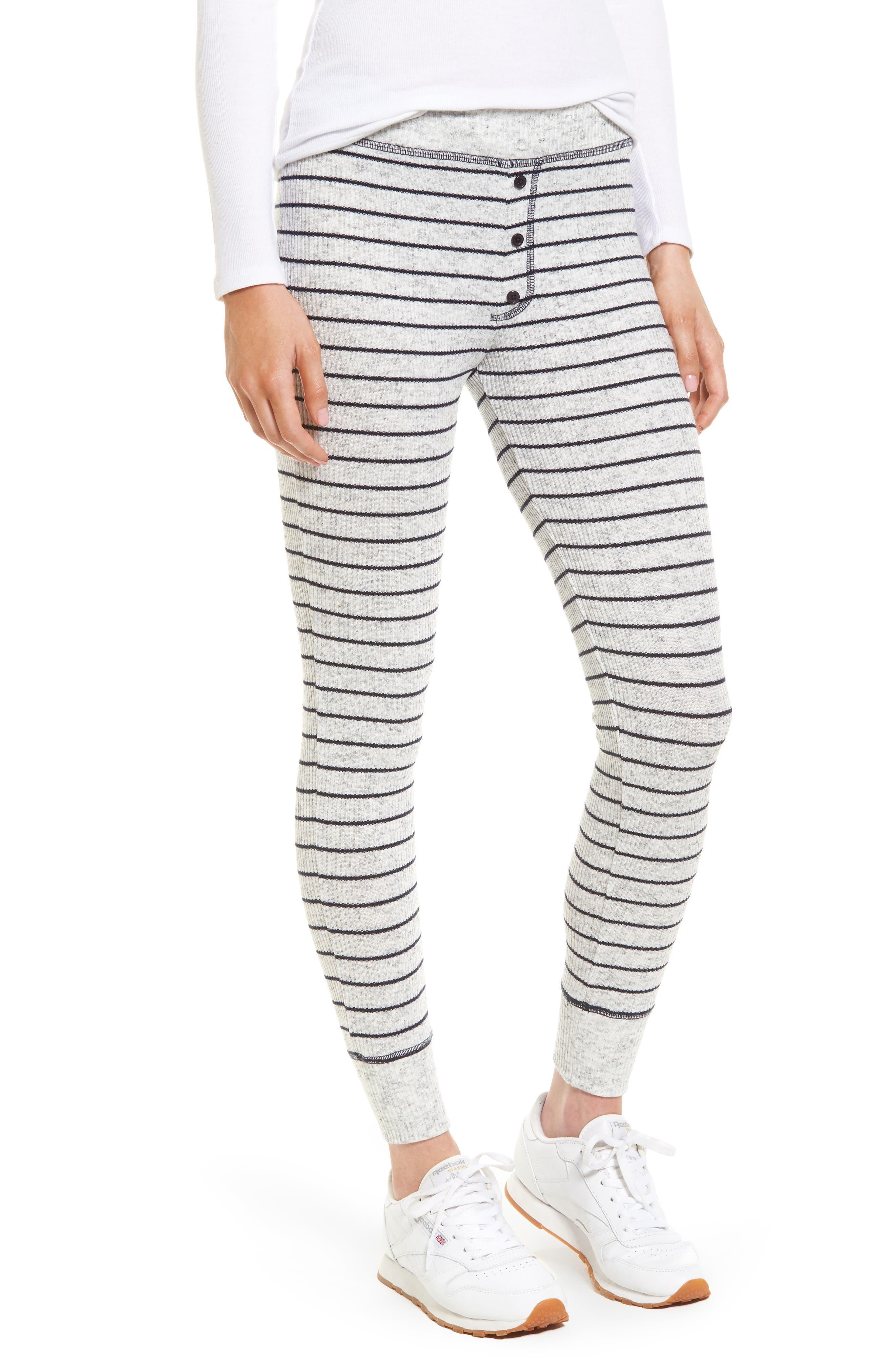 Sundry Stripe Long John Leggings