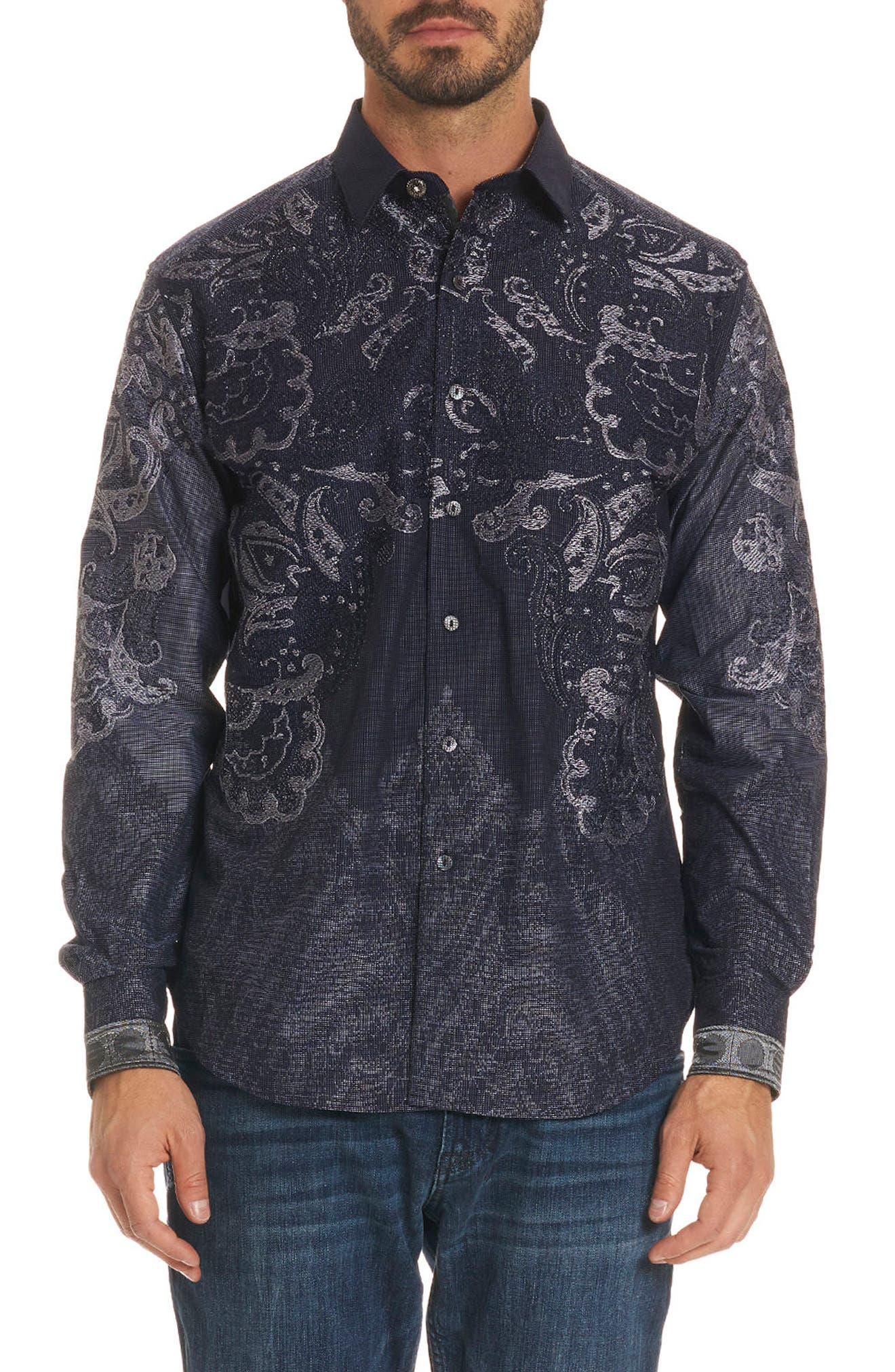 The Cooley Limited Edition Classic Fit Sport Shirt,                         Main,                         color, Indigo