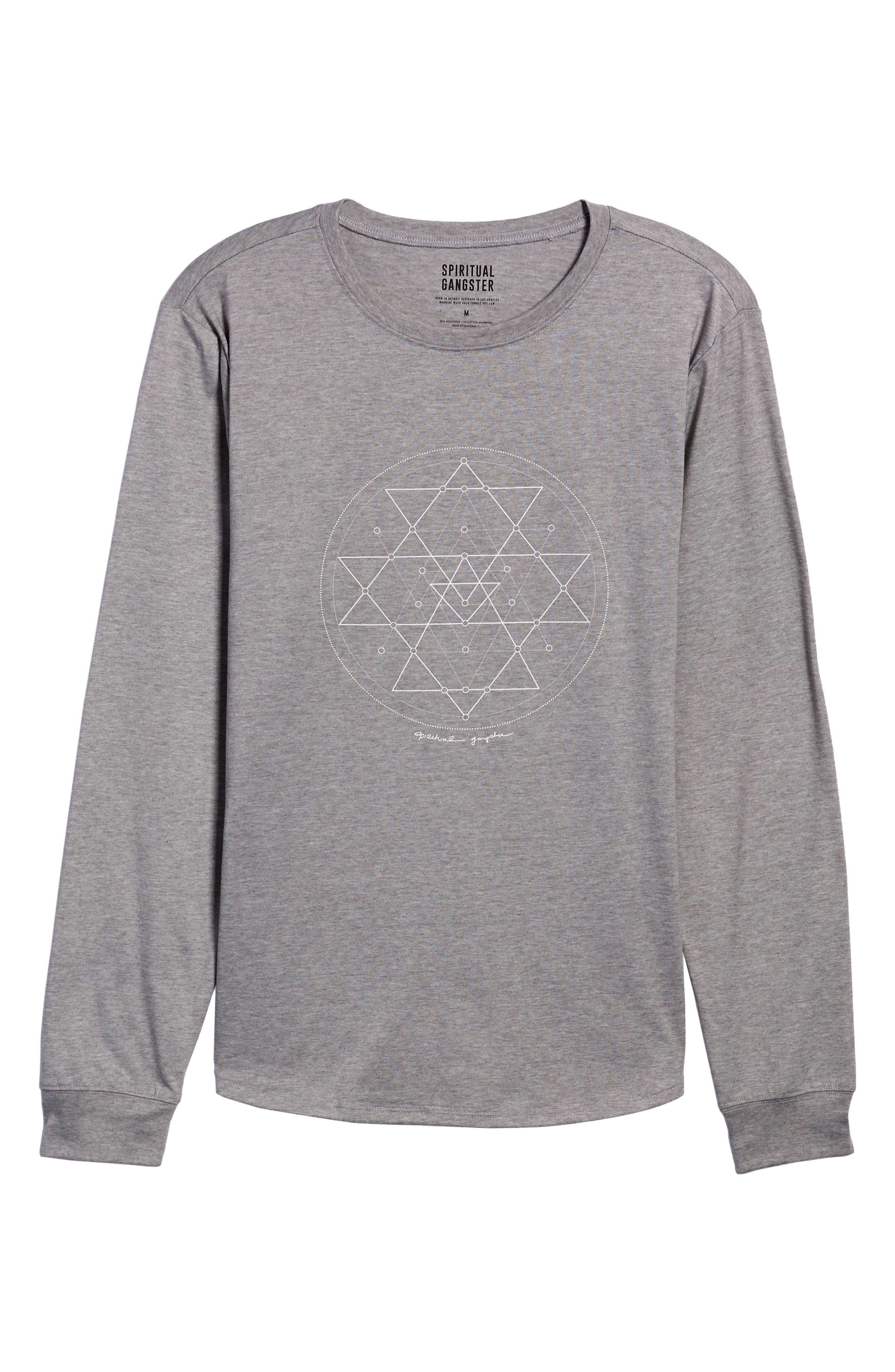 Yantra Long Sleeve T-Shirt,                             Alternate thumbnail 10, color,                             Heather Grey/ Heather Grey