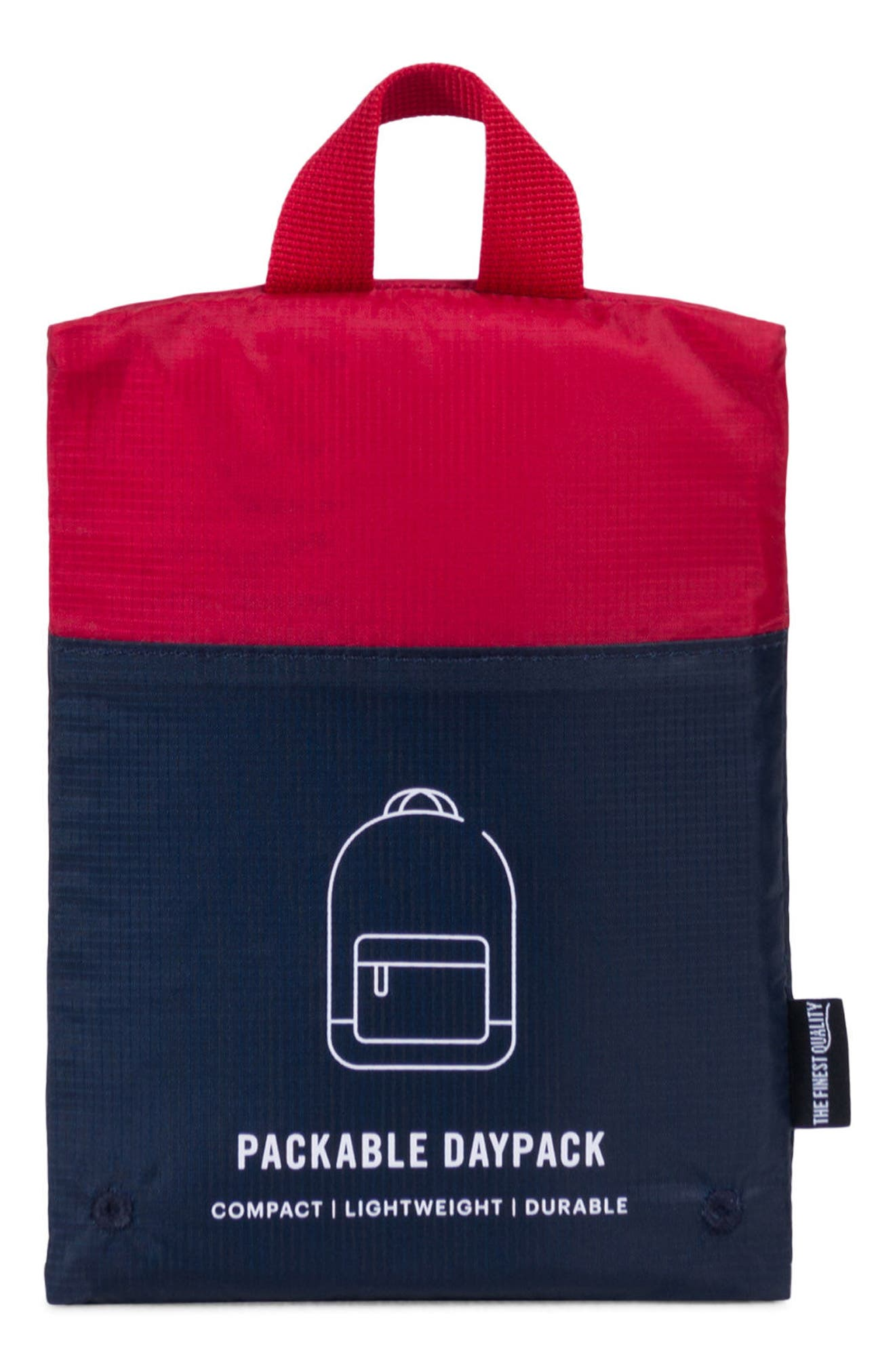 Packable Daypack,                             Alternate thumbnail 4, color,                             Navy/ Red