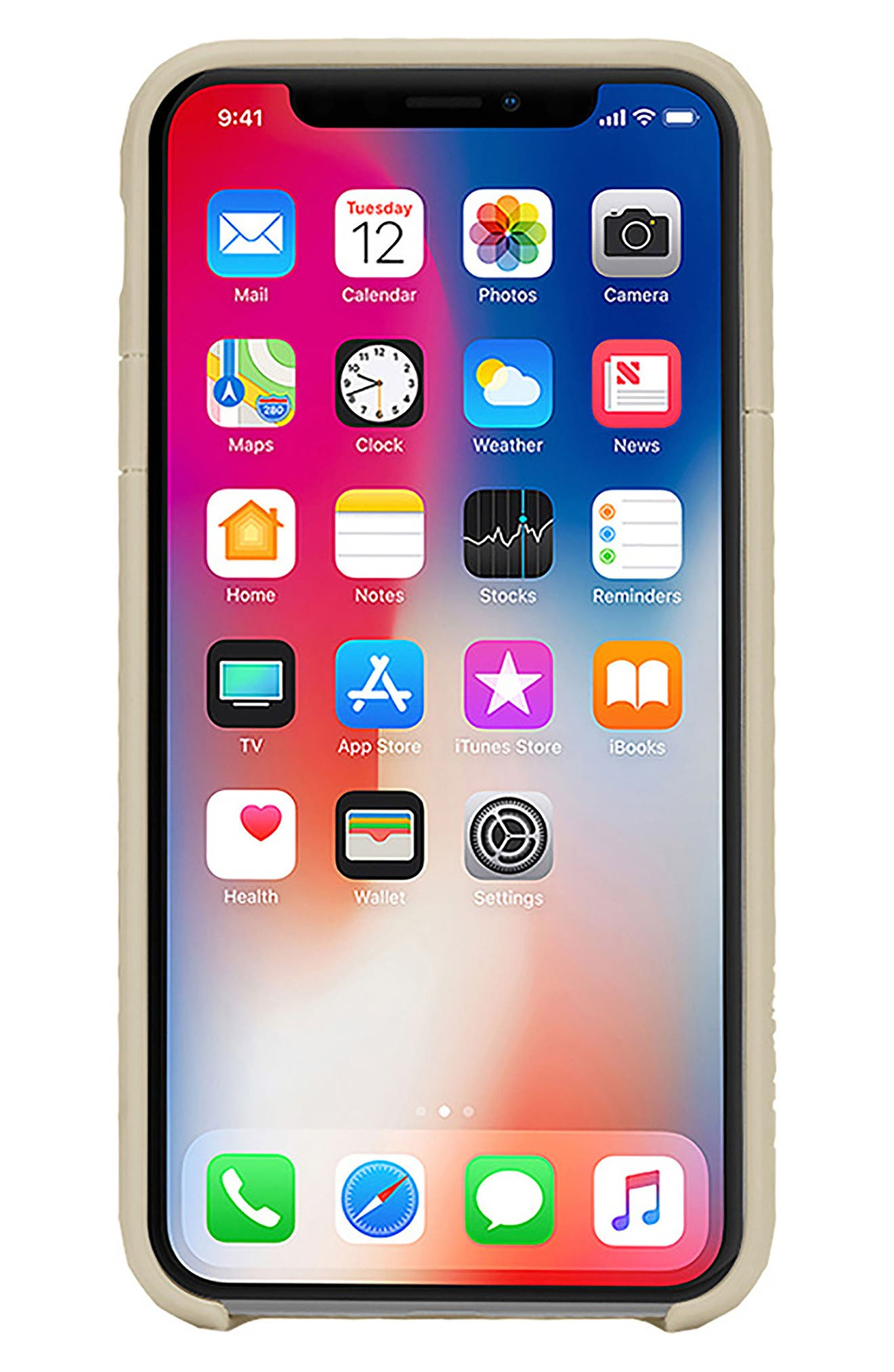 Pop iPhone X Case,                             Alternate thumbnail 8, color,                             Gold