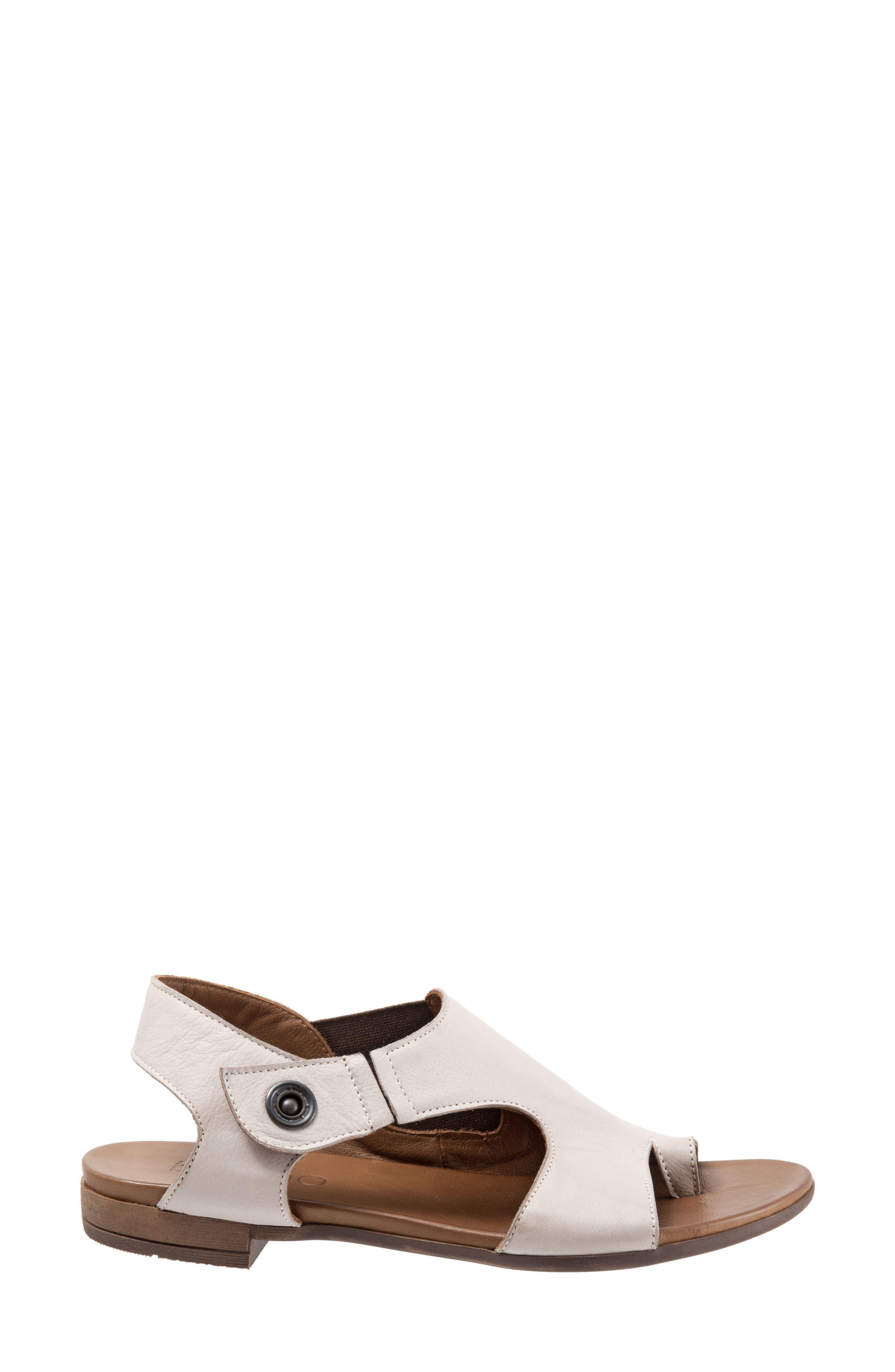 Tessa Sandal,                             Alternate thumbnail 3, color,                             Light Grey Leather