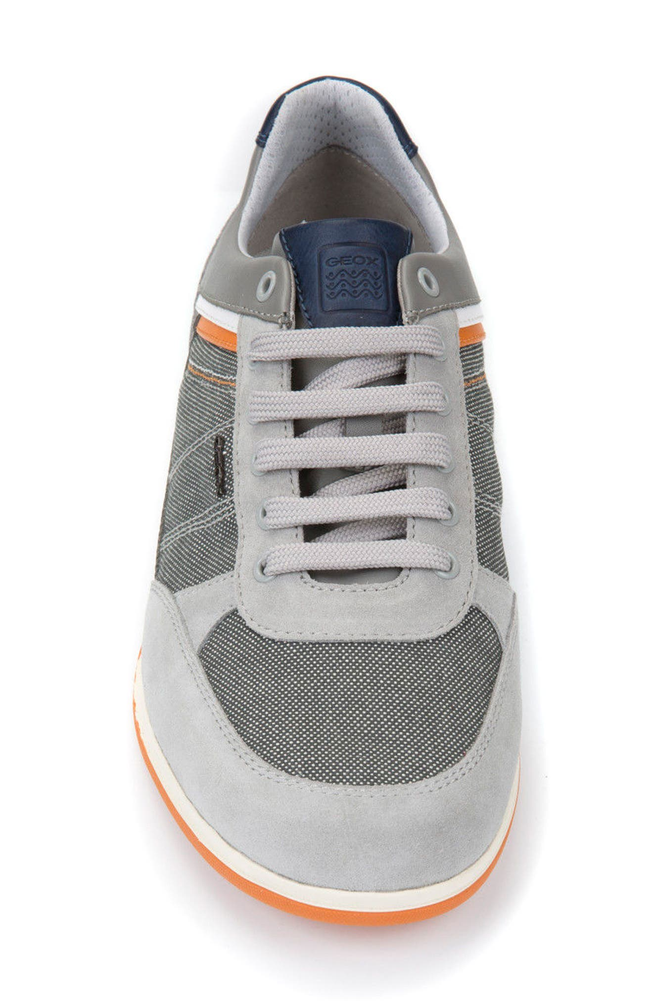 Renan 1 Low Top Sneaker,                             Alternate thumbnail 4, color,                             Light Grey/ Stone