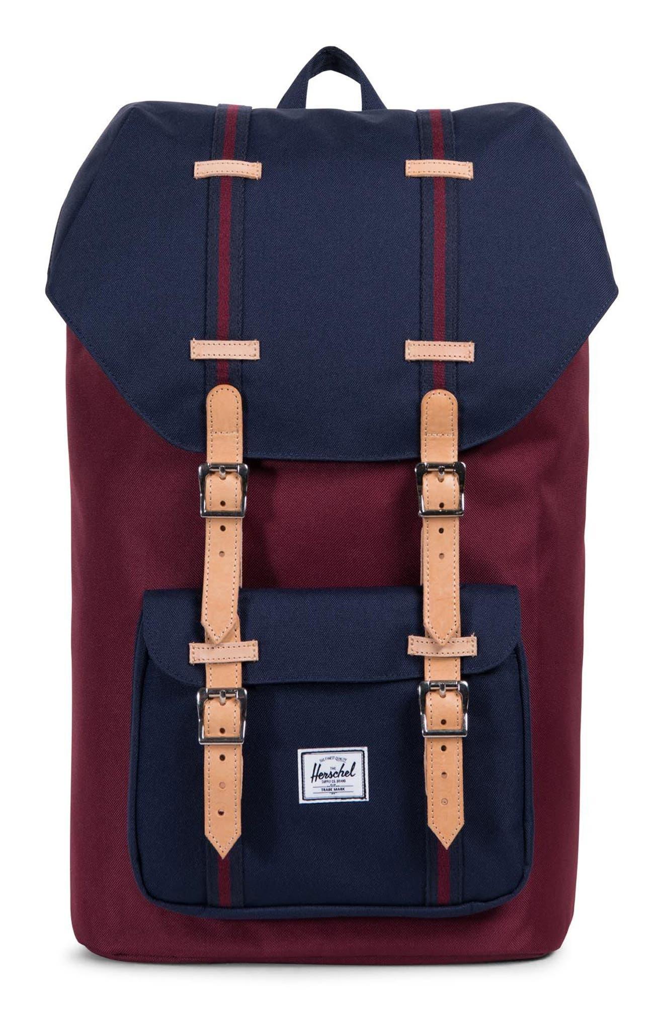Little America Backpack,                             Main thumbnail 1, color,                             Windsor Wine/