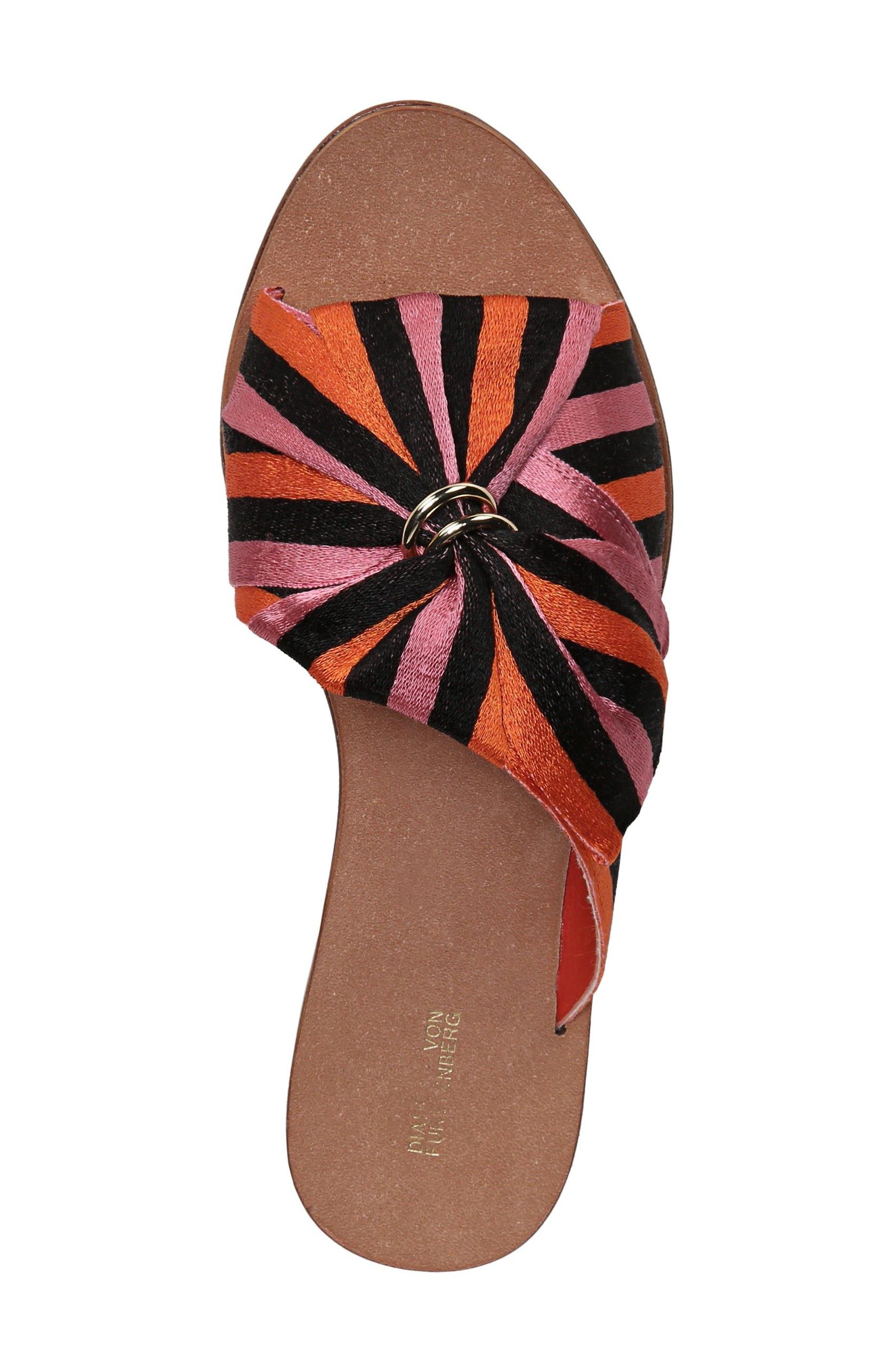 Bella Asymmetrical Slide Sandal,                             Alternate thumbnail 5, color,                             Rose Multi