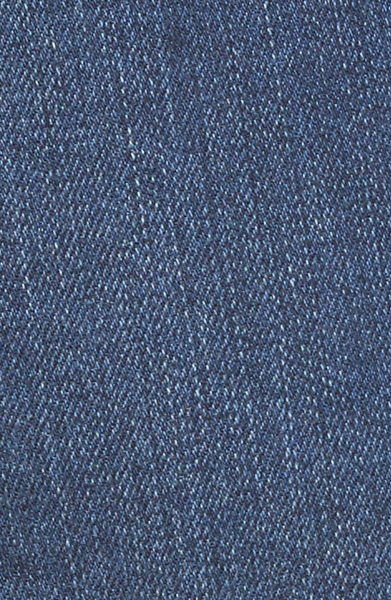 Le High Crop Straight Leg Jeans,                             Alternate thumbnail 5, color,                             Baynes Court