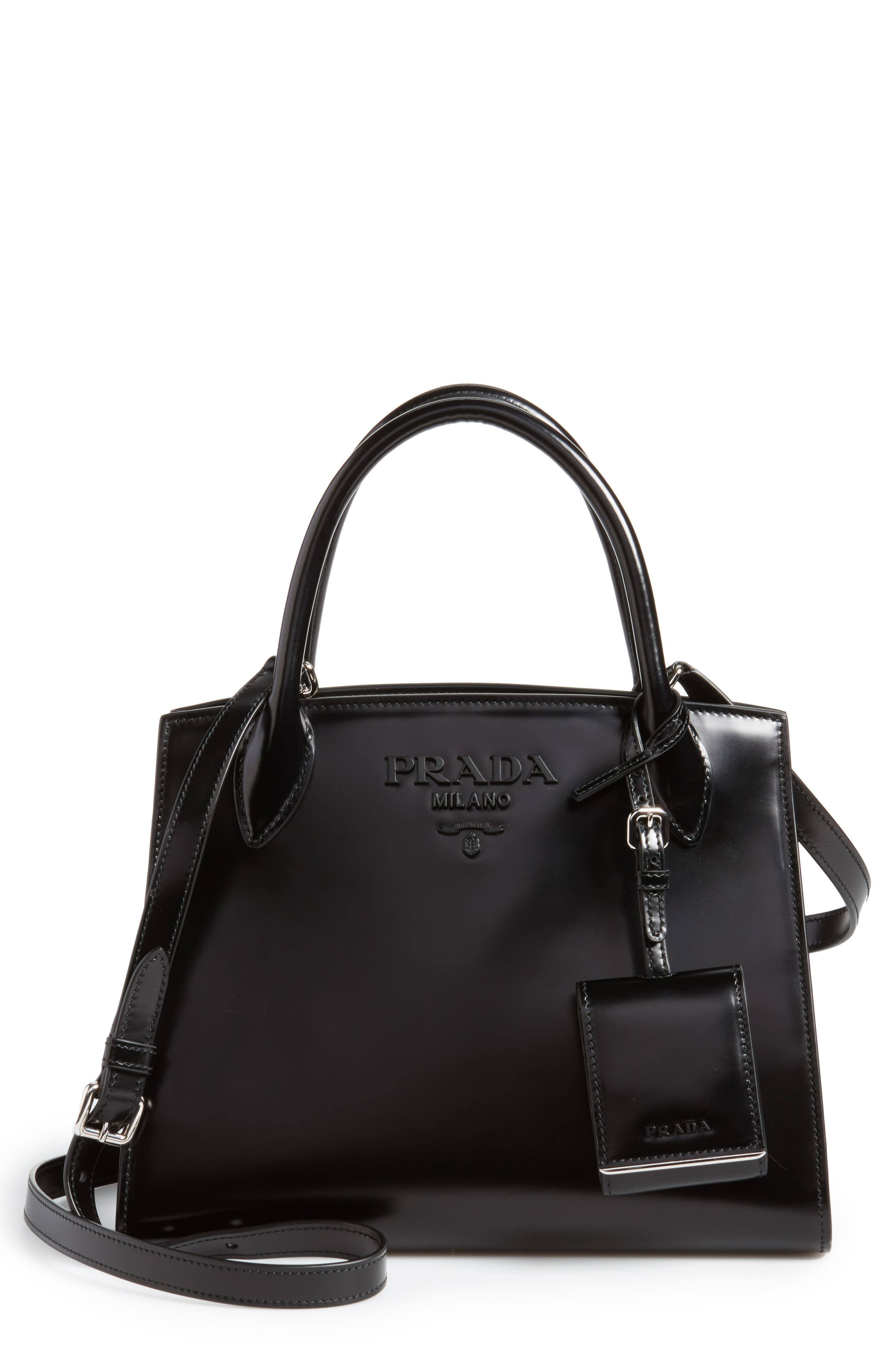 Alternate Image 1 Selected - Prada Small Monochrome Spazzolato Tote
