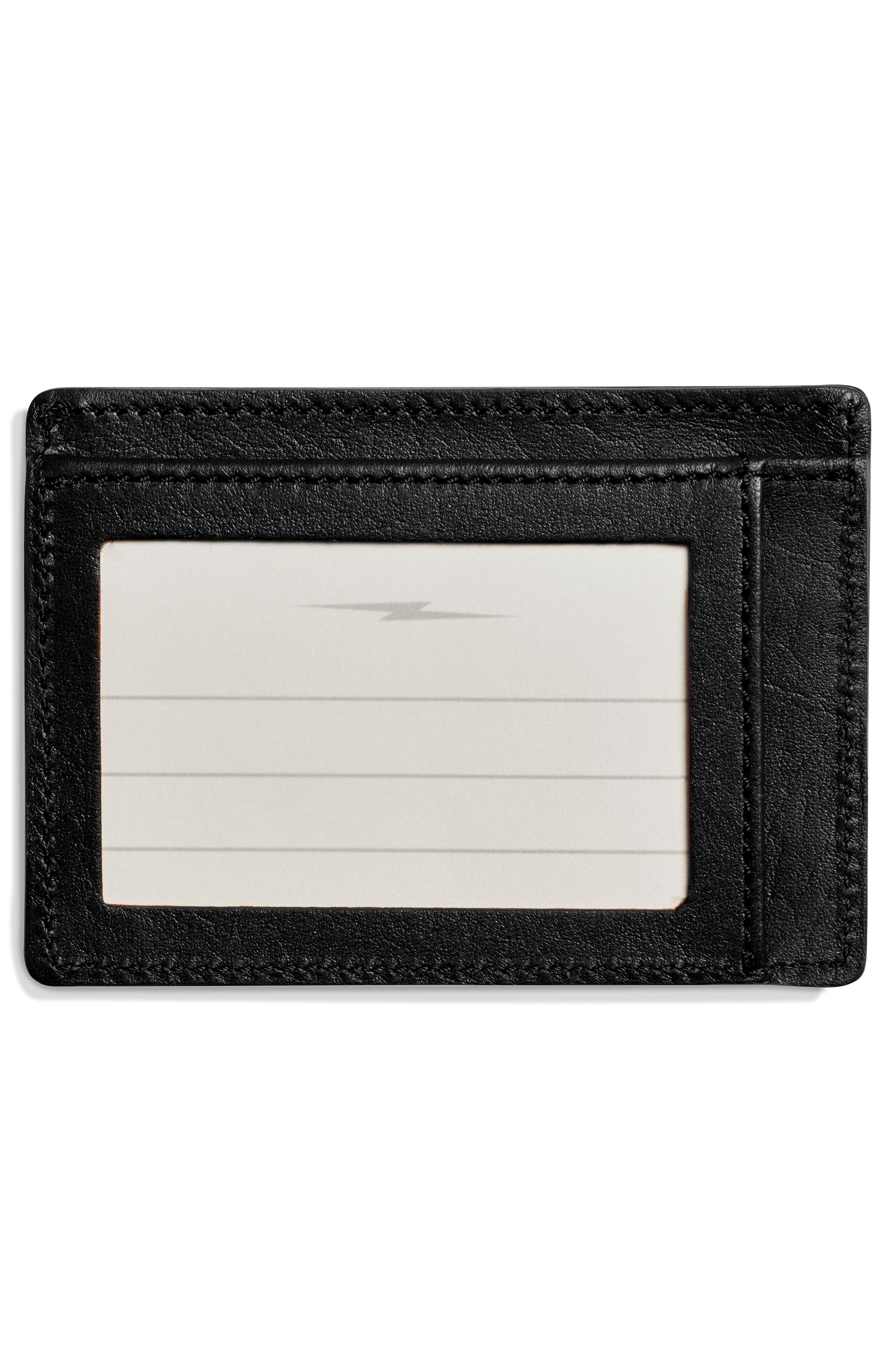 Leather Card Case,                             Alternate thumbnail 2, color,                             Black