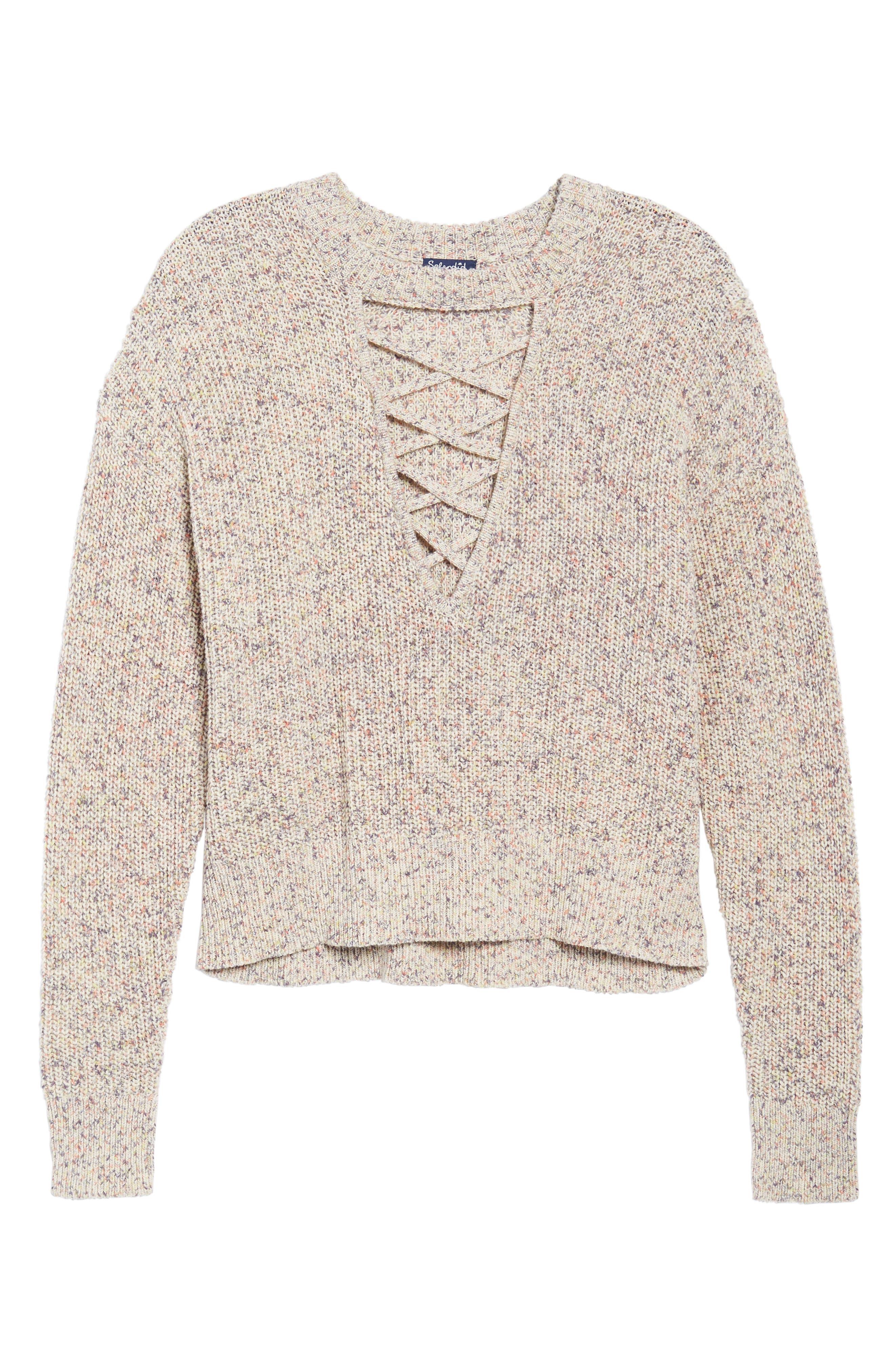 Plunging Crisscross Sweater,                             Alternate thumbnail 7, color,                             Glow Multi