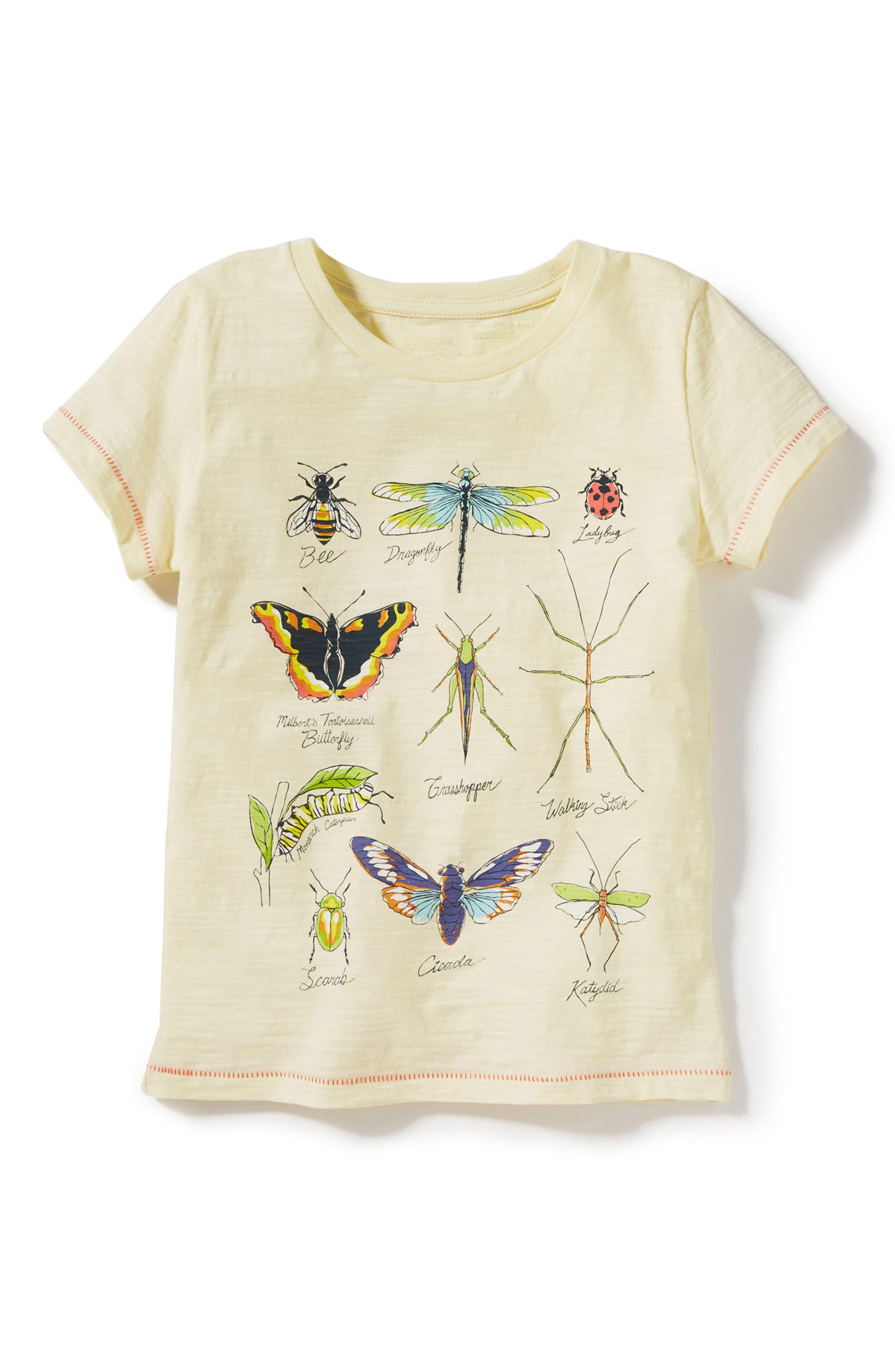 Main Image - Peek Bug Diagram Graphic Tee (Toddler Girls)