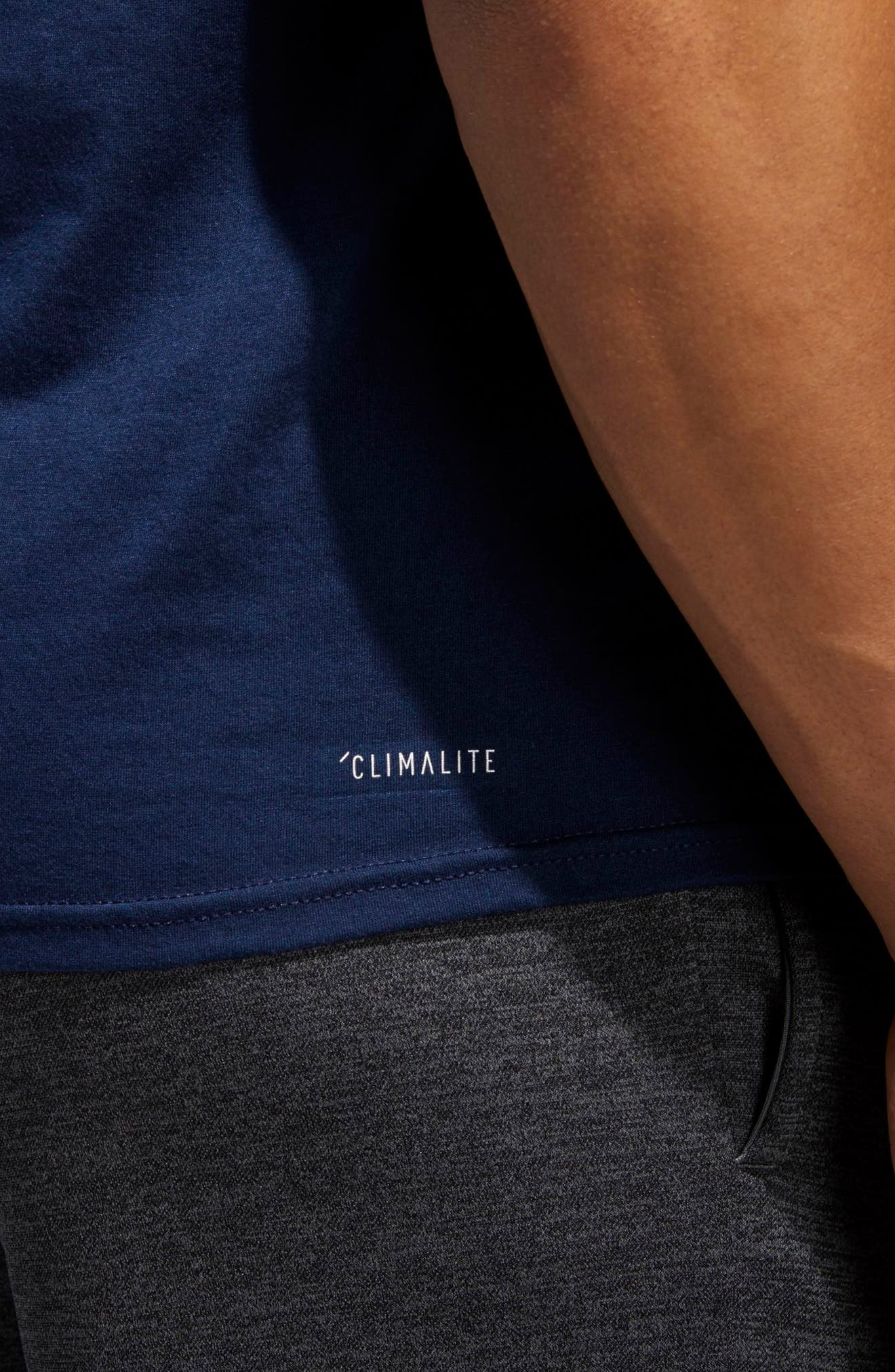 Alternate Image 4  - adidas Jersey Hack Crewneck T-Shirt