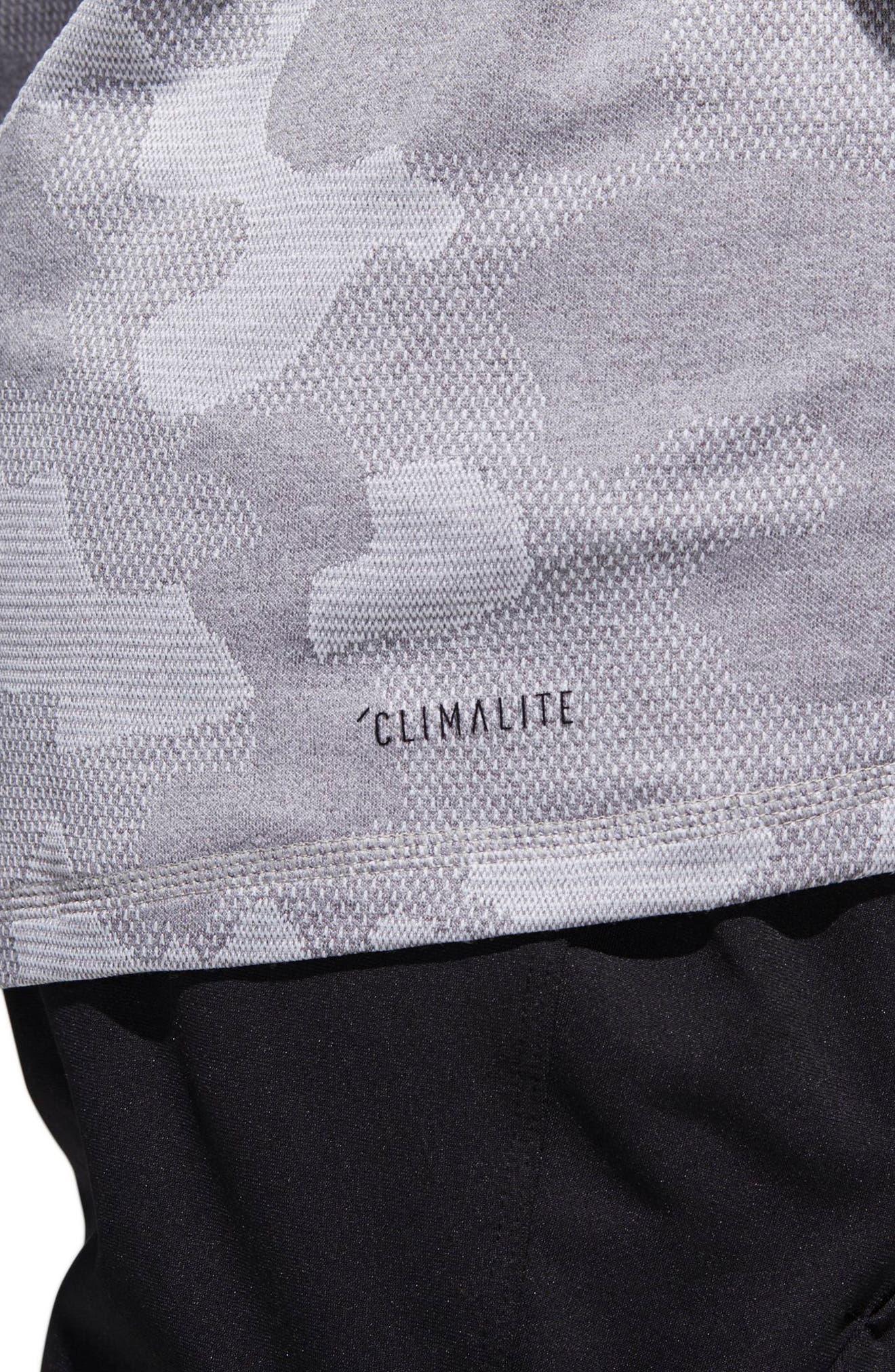 Camo Hype T-Shirt,                             Alternate thumbnail 5, color,                             Grey Three / White