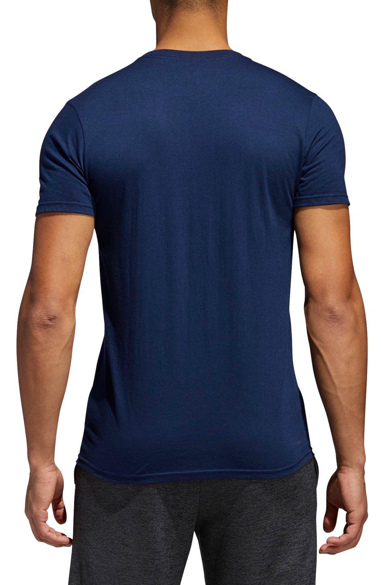 Alternate Image 2  - adidas Jersey Hack Crewneck T-Shirt