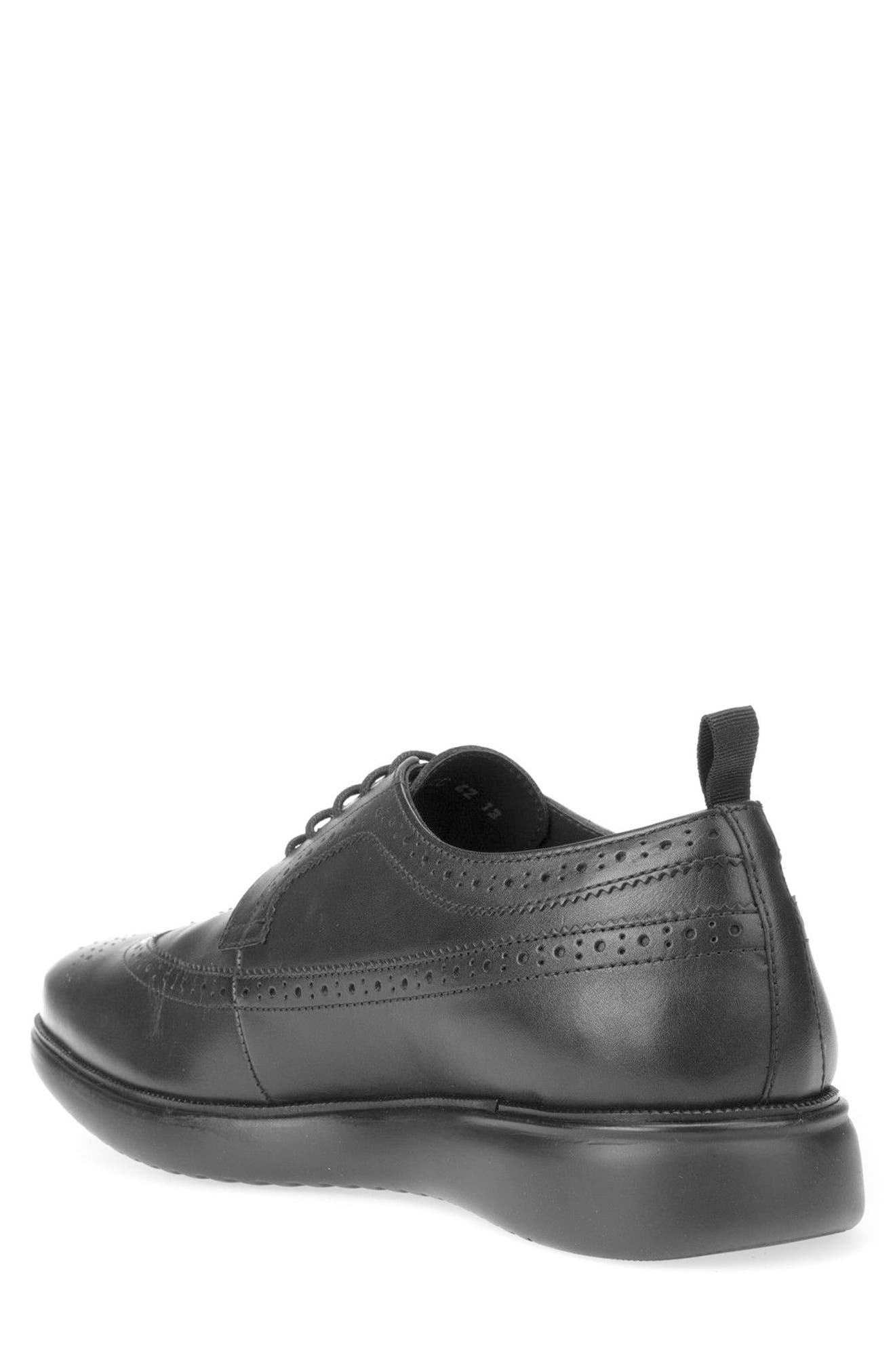 Winfred 3 Wingtip,                             Alternate thumbnail 2, color,                             Black Leather