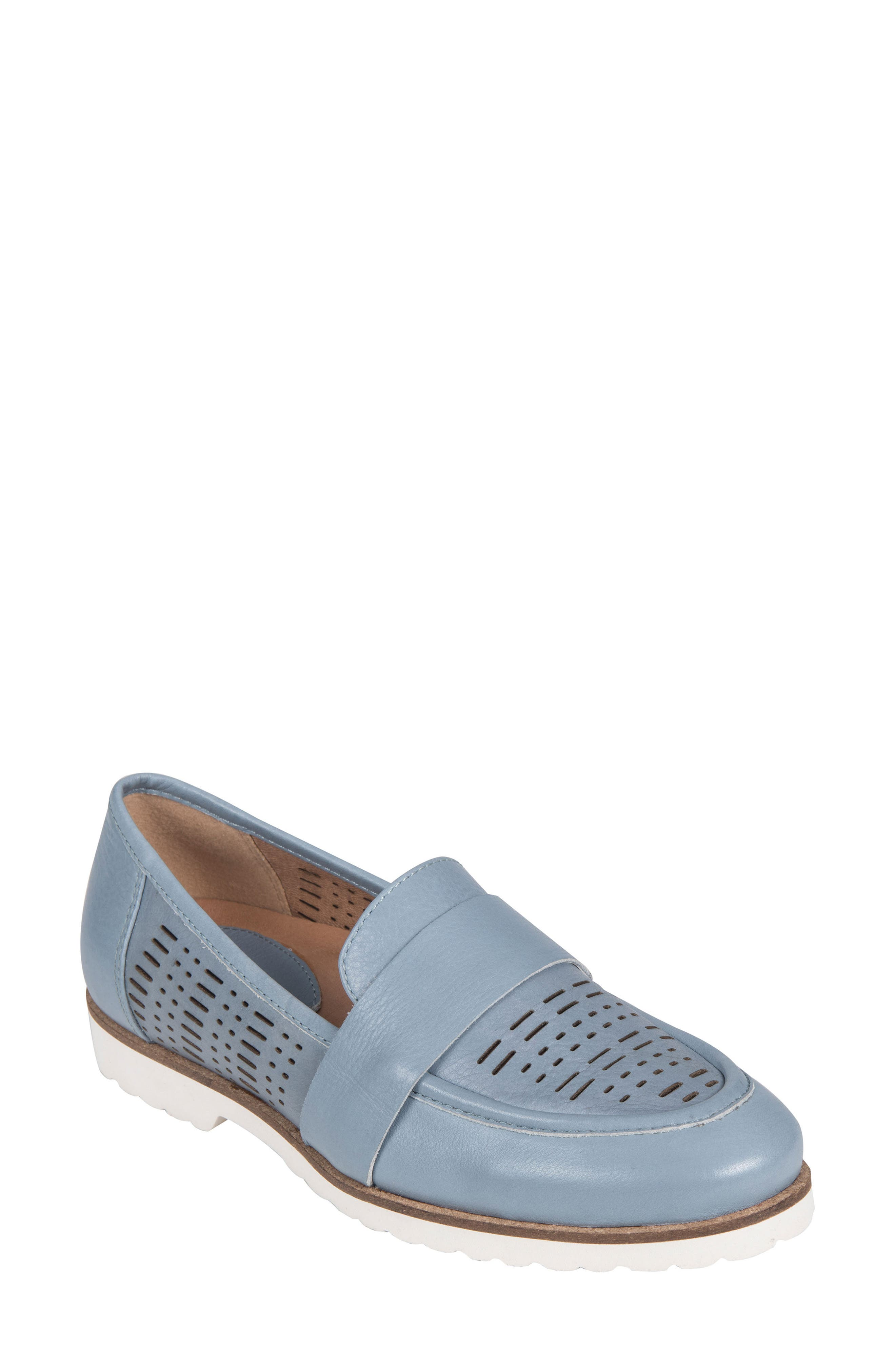 Masio Loafer,                         Main,                         color, Blue Leather