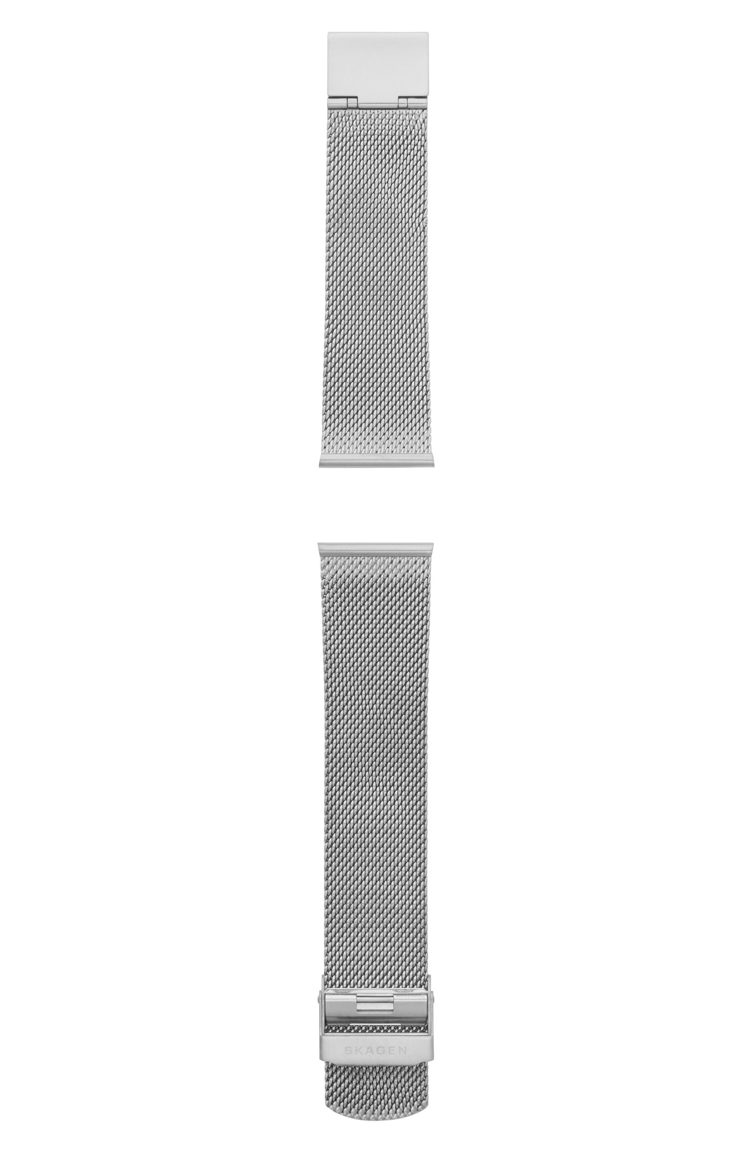 Holst Mesh Watch Strap, 21mm,                         Main,                         color, Gunmetal