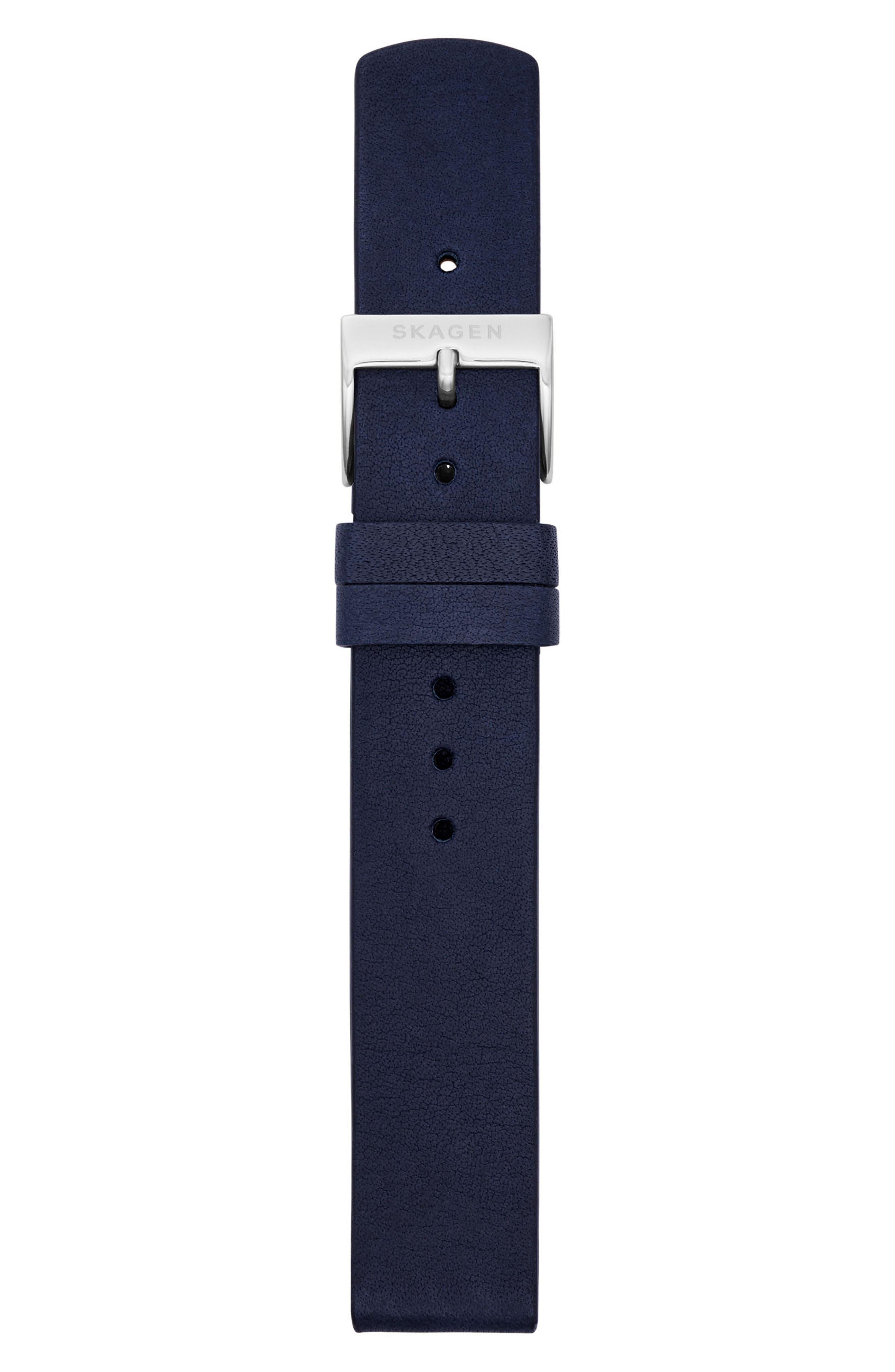 Alternate Image 2  - Skagen Leather Watch Strap, 16mm