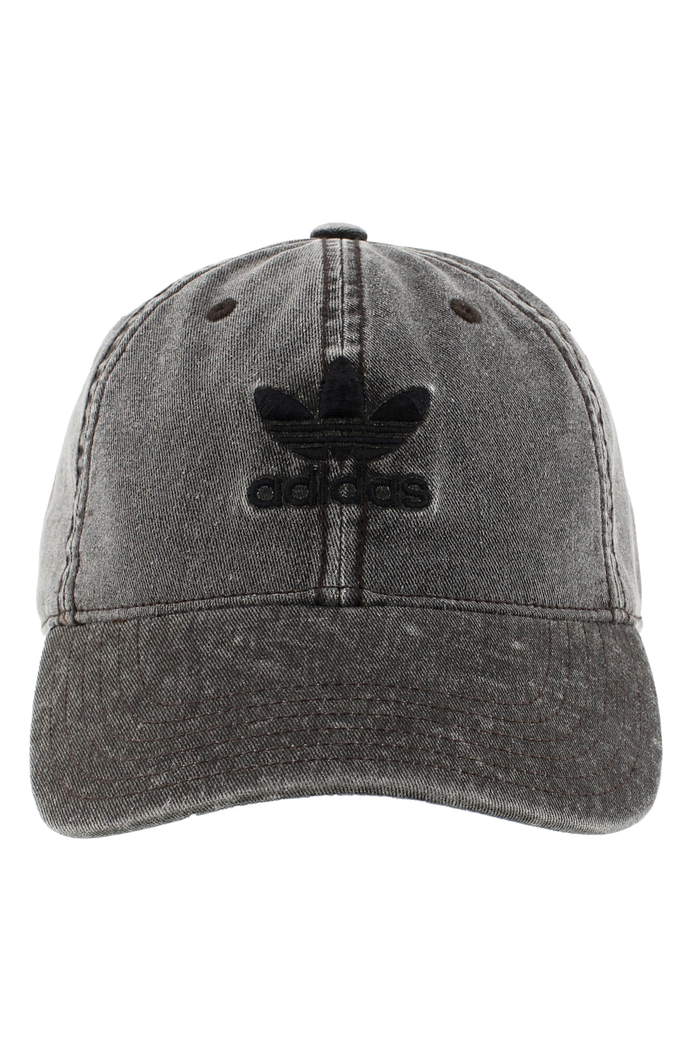 31119265906 discount adidas originals precurve washed cap 8ff57 76e4c  clearance adidas  originals relaxed logo baseball cap black charcoal d69ee cb096