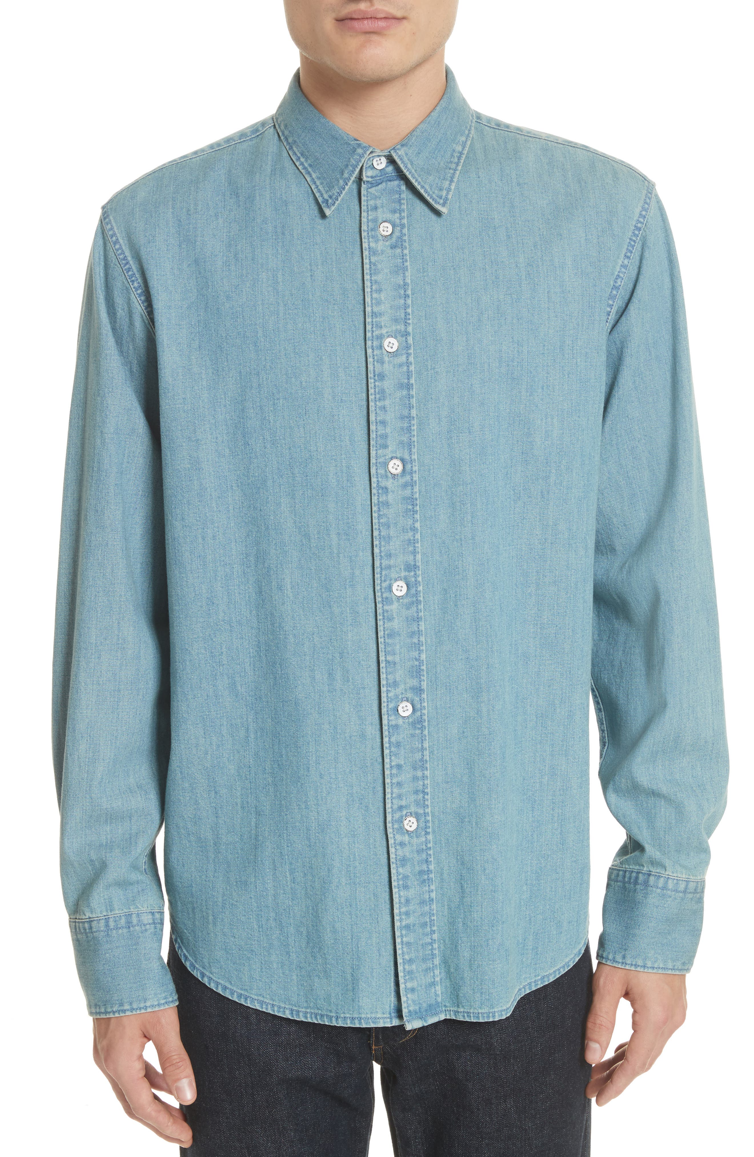 rag & bone Fit 3 Chambray Denim Shirt
