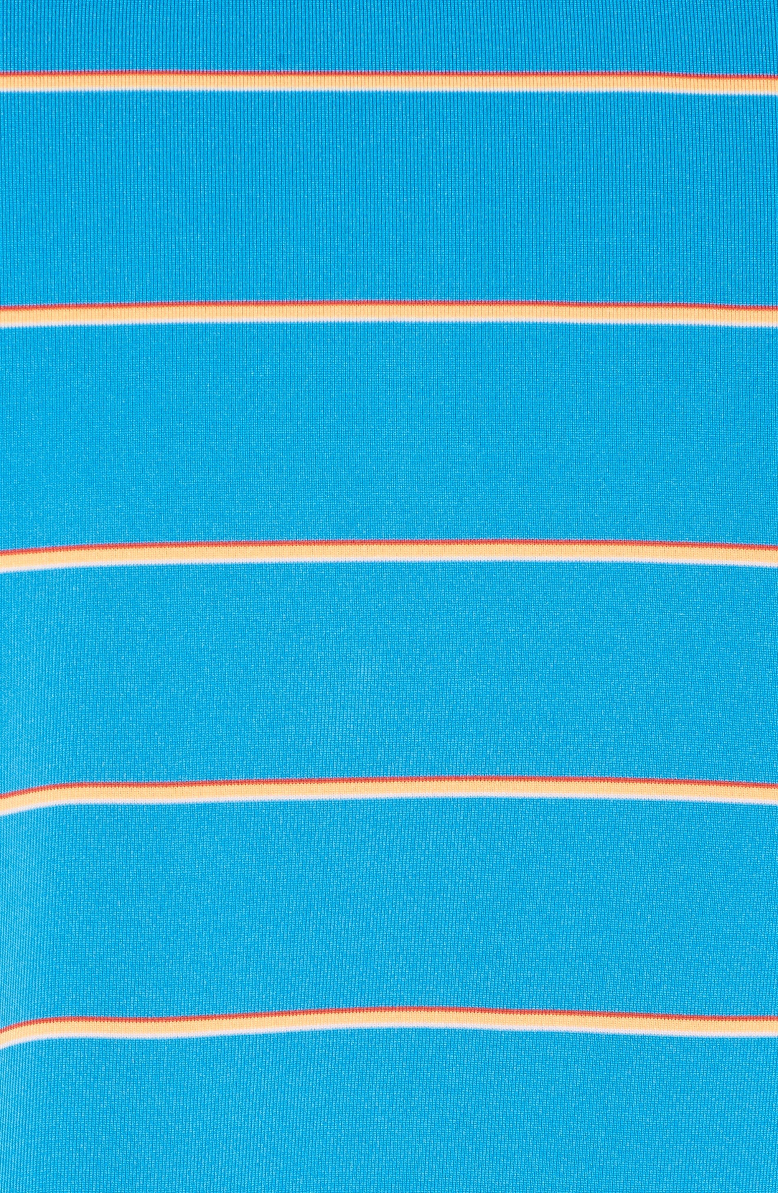 Stripe DryTec Polo,                             Alternate thumbnail 5, color,                             Poolside/ Clarity
