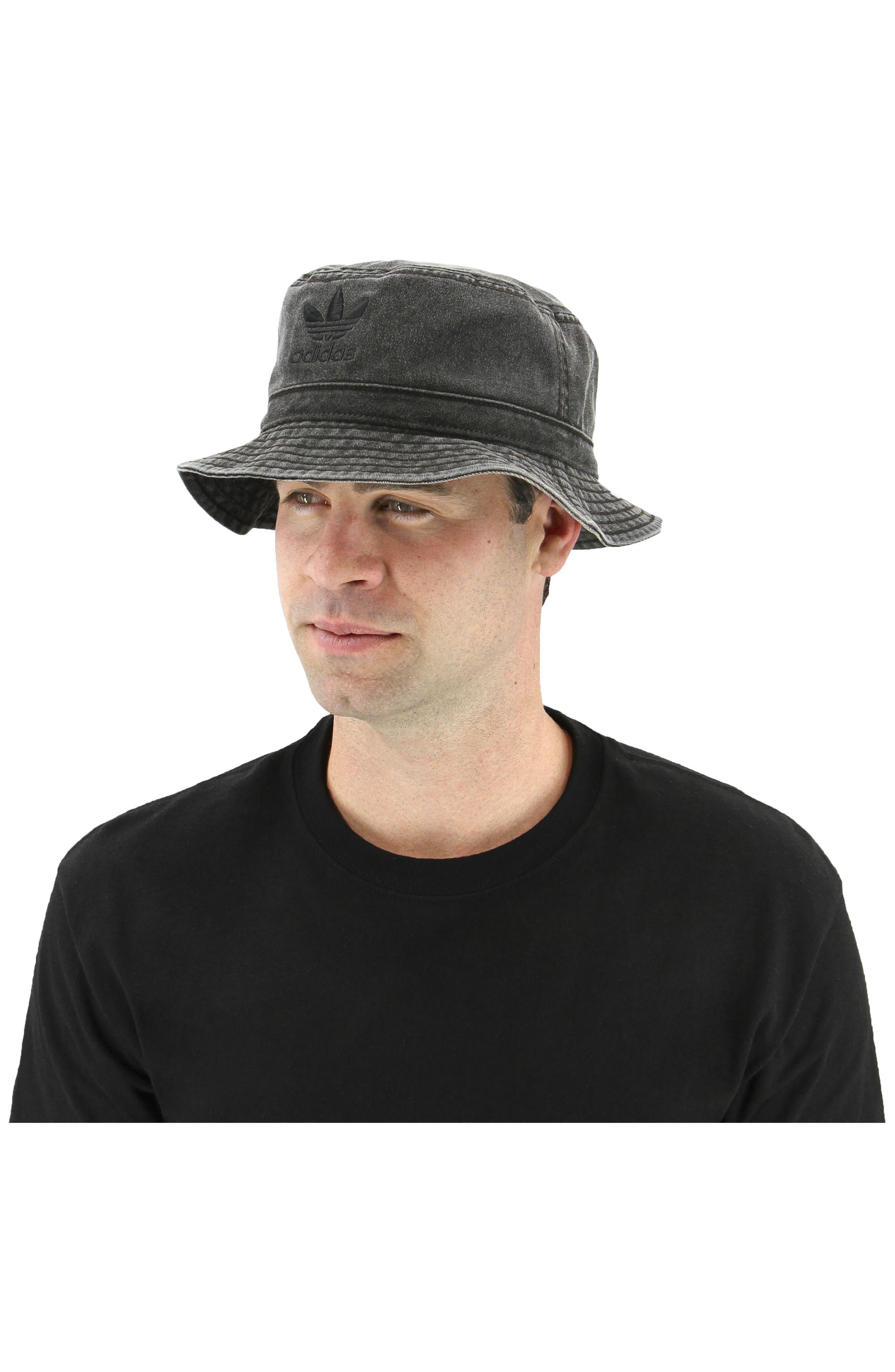 Washed Bucket Hat,                             Alternate thumbnail 2, color,                             Black/ Black