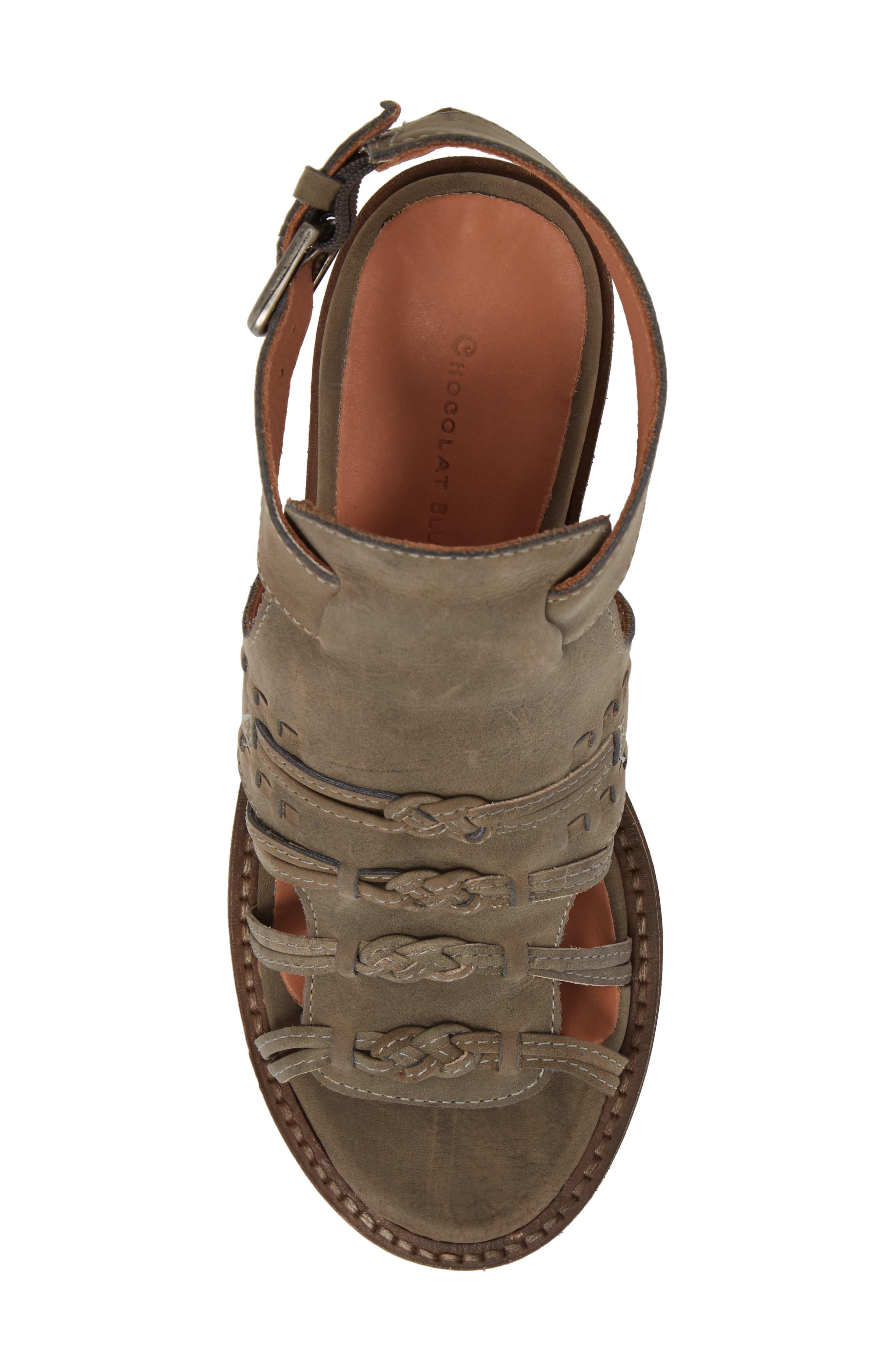 Volcano Sandal,                             Alternate thumbnail 5, color,                             Grey Leather