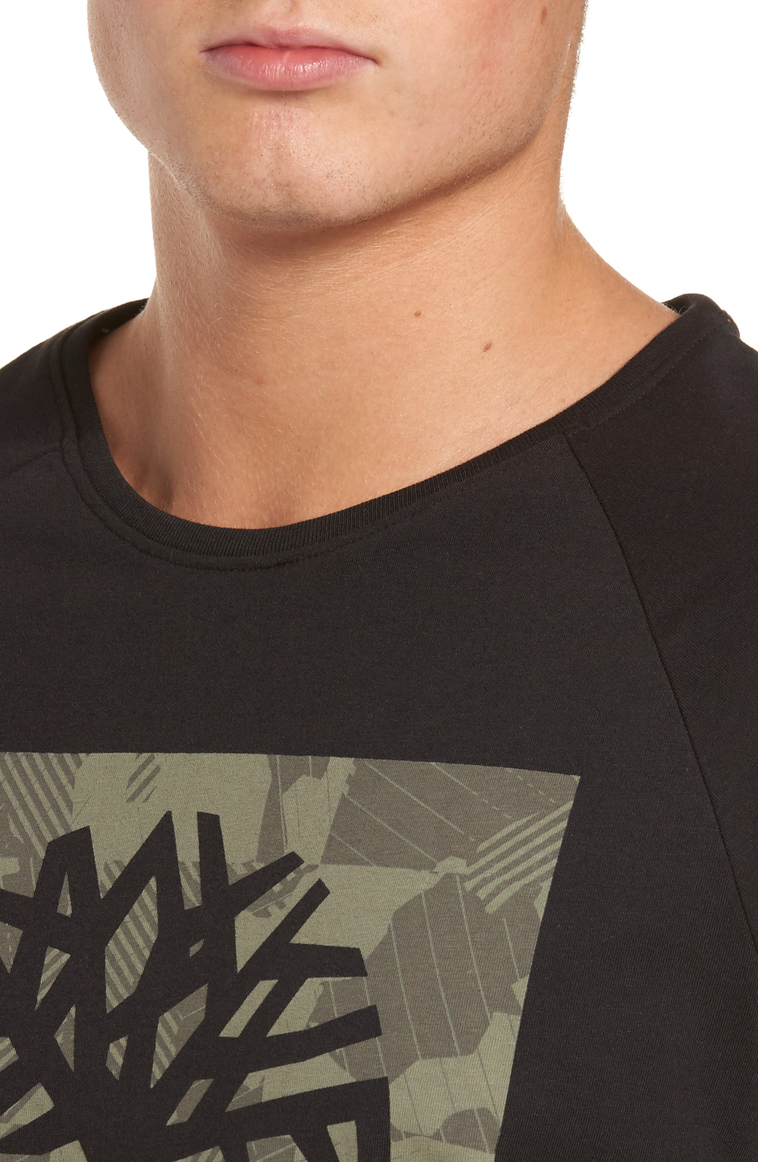 Camo Logo T-Shirt,                             Alternate thumbnail 4, color,                             Black