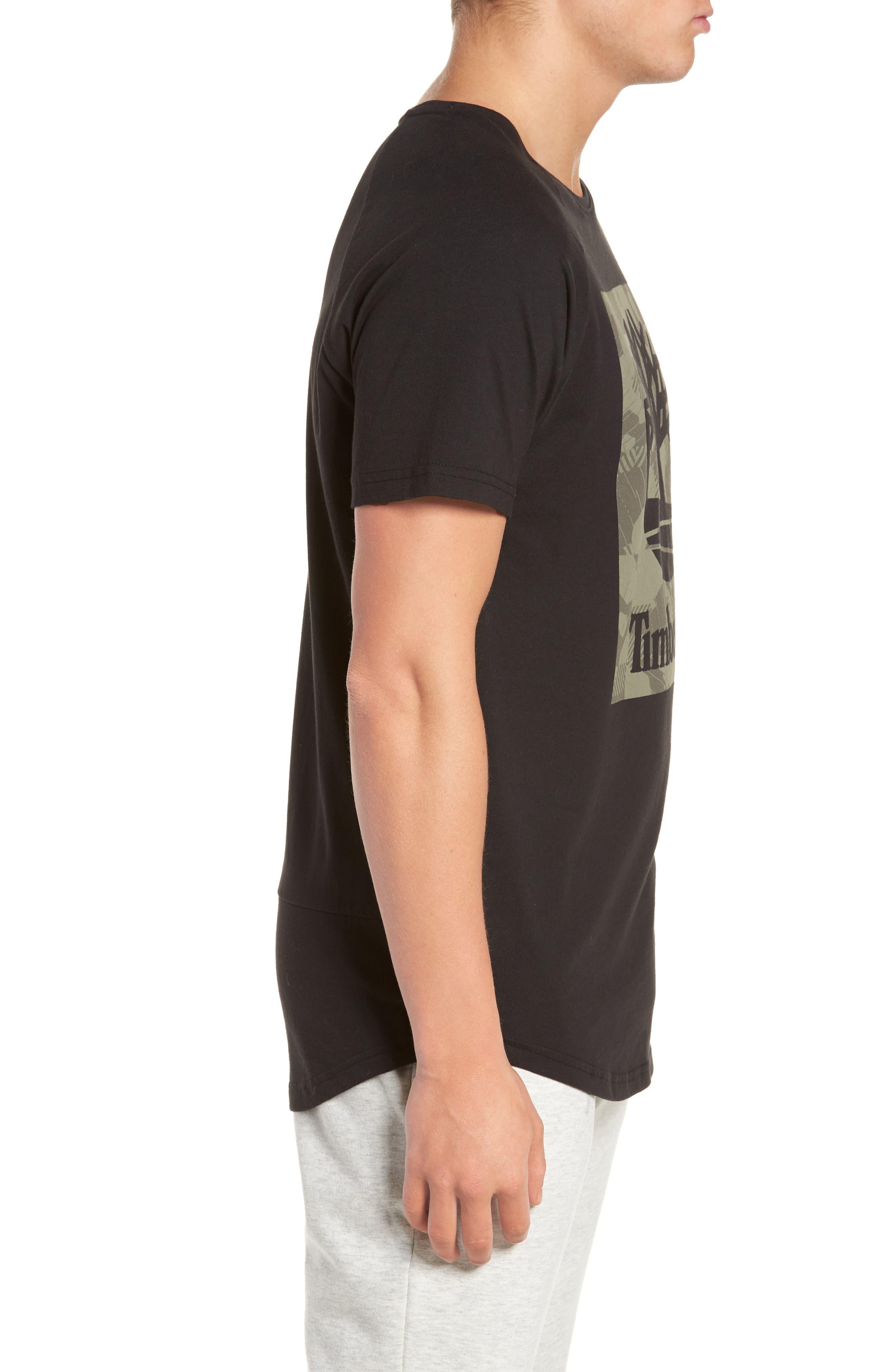 Camo Logo T-Shirt,                             Alternate thumbnail 3, color,                             Black