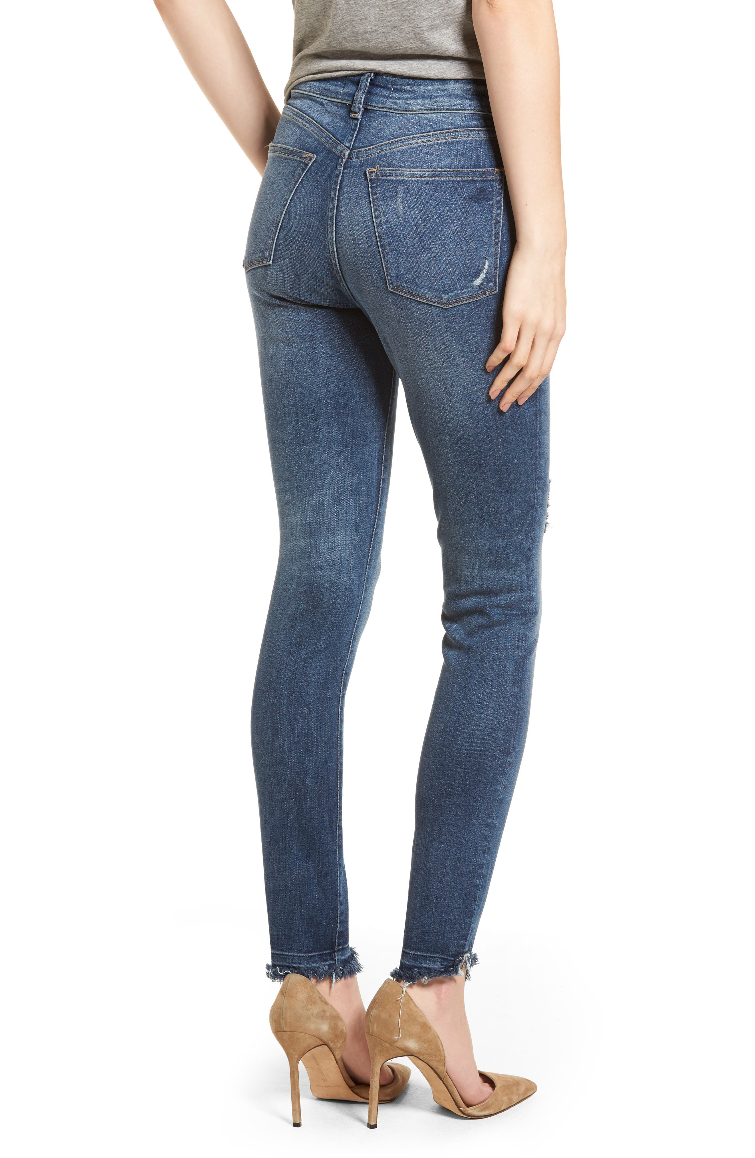 Farrow Instaslim High Waist Skinny Jeans,                             Alternate thumbnail 2, color,                             Crater Lake