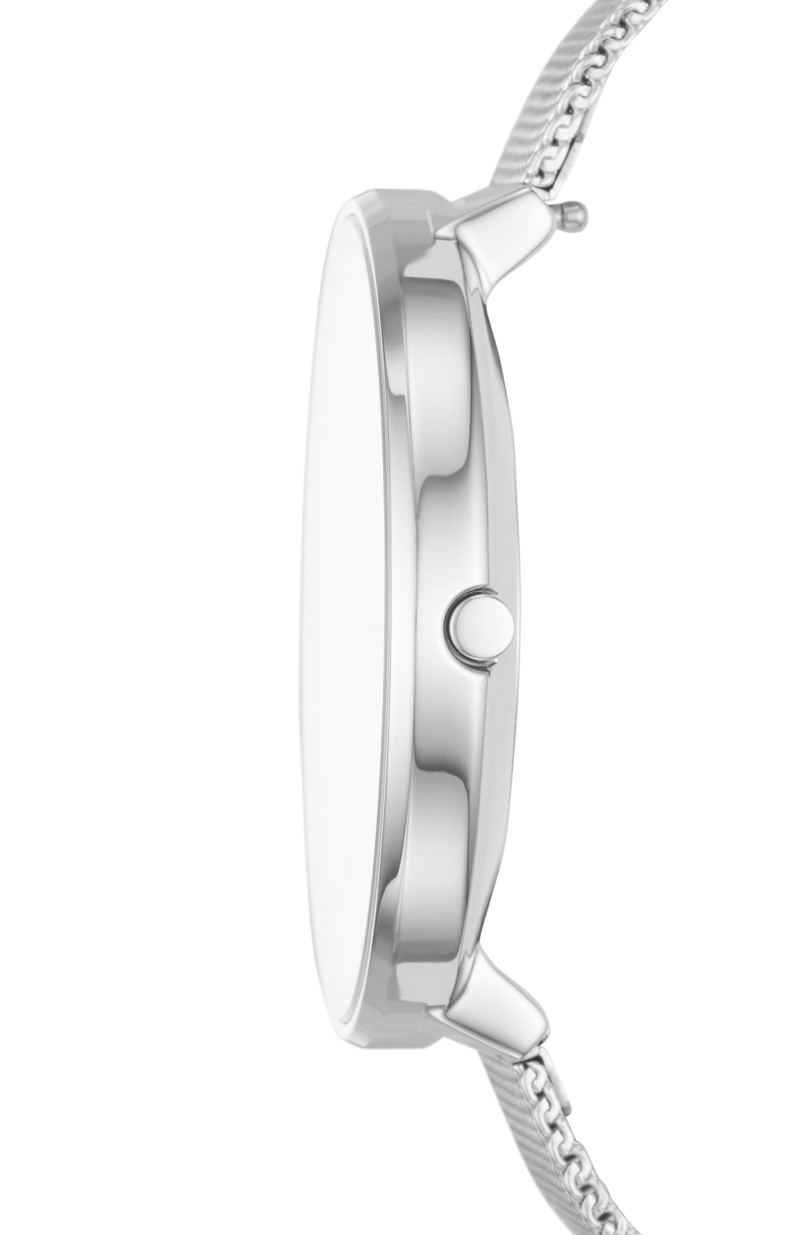 Karolina Mesh Strap Watch, 38mm,                             Alternate thumbnail 2, color,                             Silver