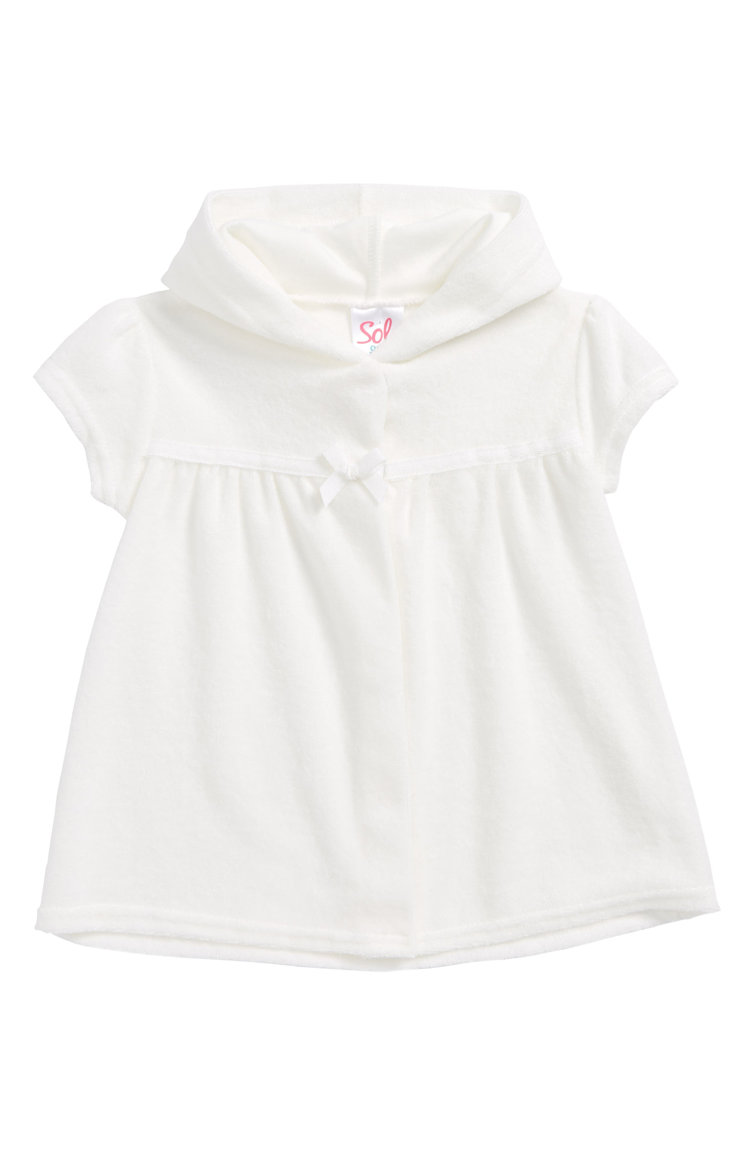 Hooded Cover-Up,                             Main thumbnail 1, color,                             White