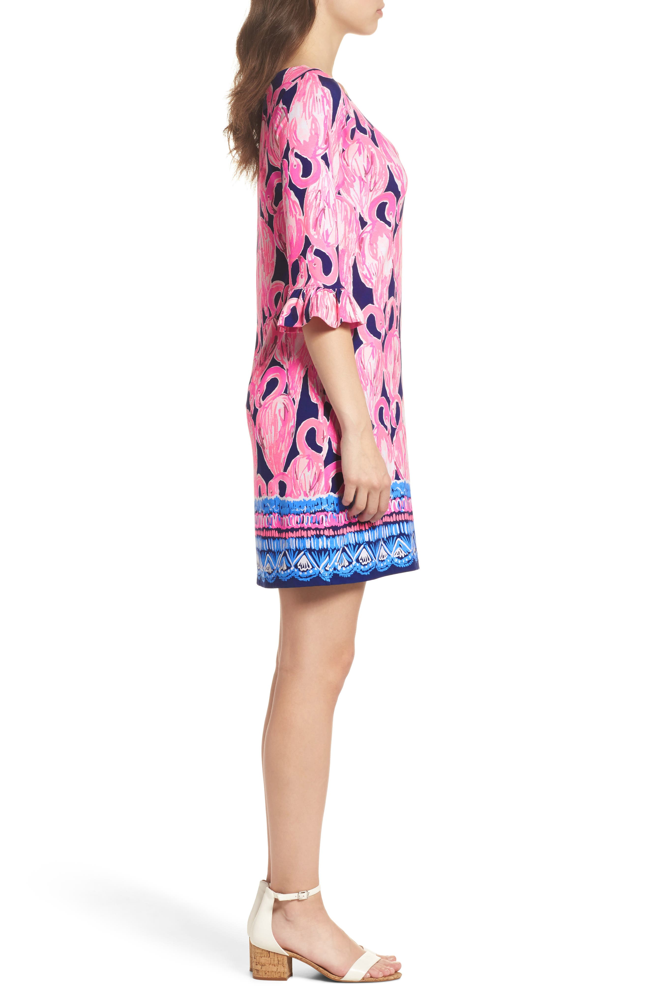Sophie UPF 50+ Shift Dress,                             Alternate thumbnail 3, color,                             High Tide Via Amor