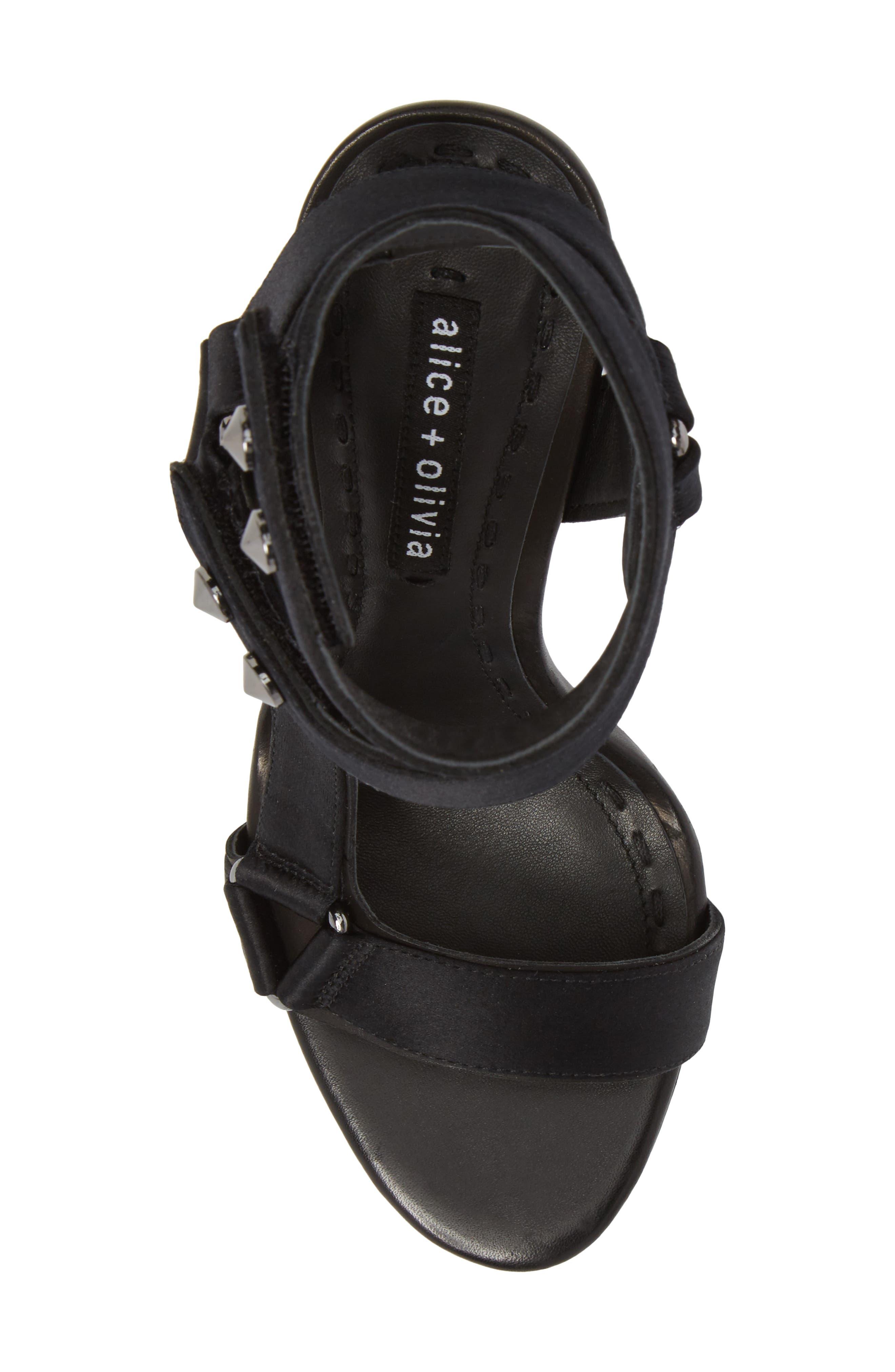 Tamryn Studded Ankle Strap Sandal,                             Alternate thumbnail 5, color,                             Black