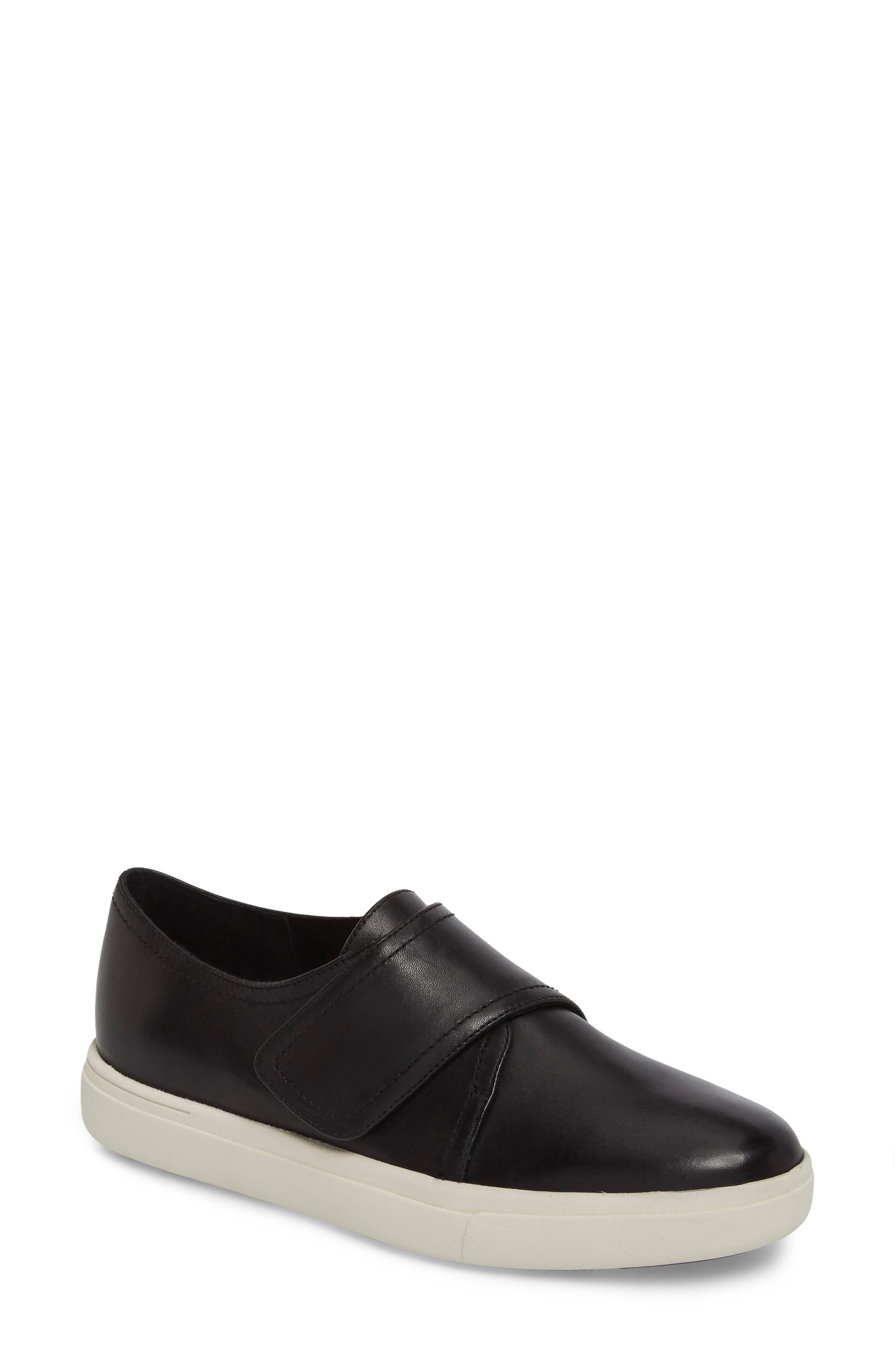 Oberon Slip-On Sneaker,                             Main thumbnail 1, color,                             Black Leather