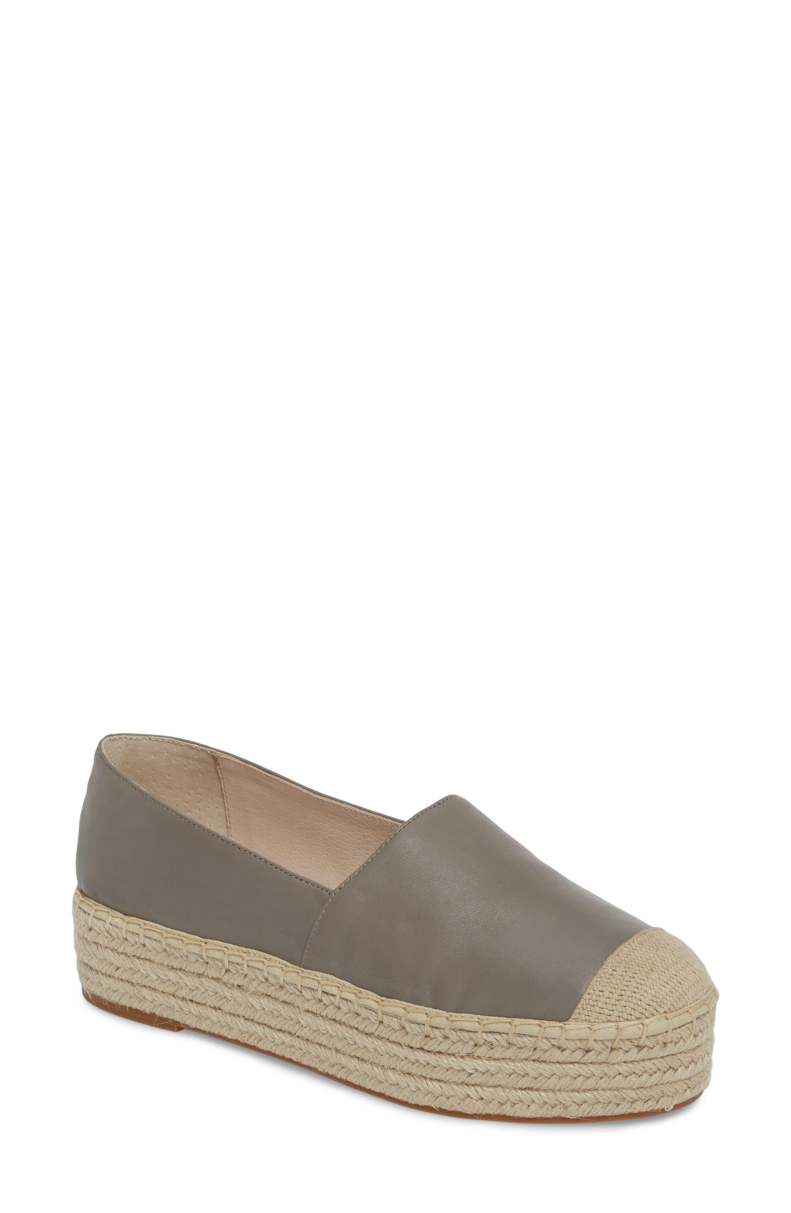 Collins Lea Espadrille Platform Slip-On,                             Main thumbnail 1, color,                             Grey Leather