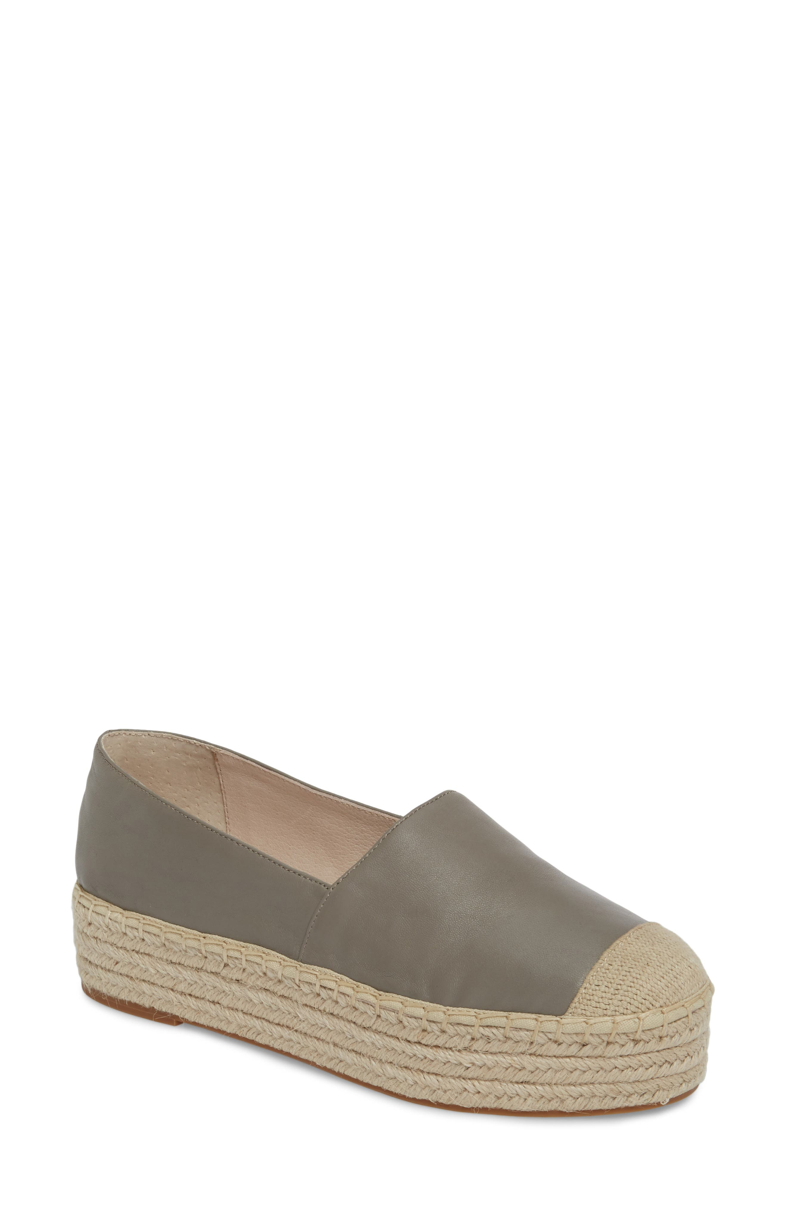 Collins Lea Espadrille Platform Slip-On,                         Main,                         color, Grey Leather