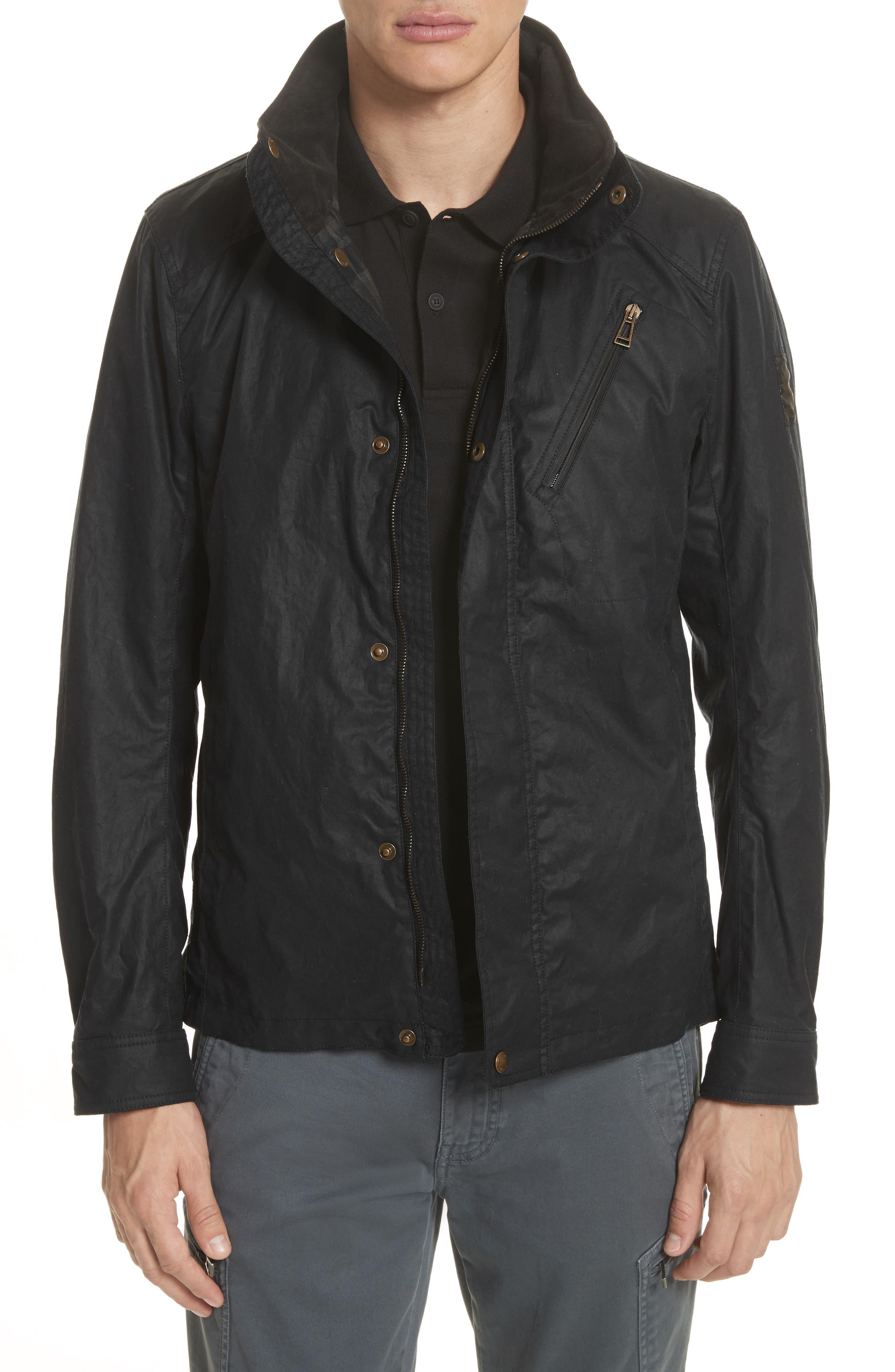 Citymaster 2 Waxed Cotton Moto Jacket,                             Main thumbnail 1, color,                             Black