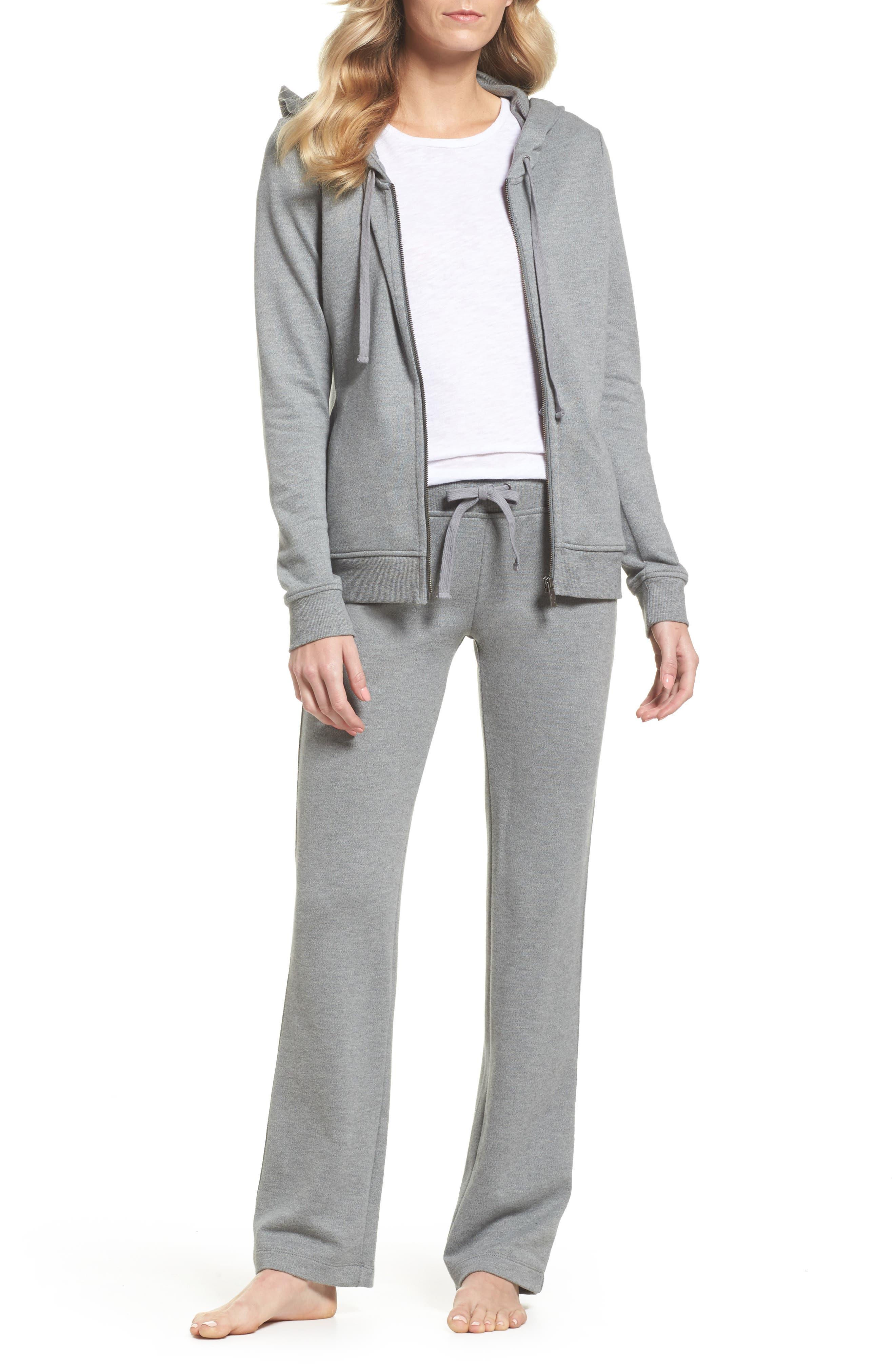 Penny Lounge Pants,                             Alternate thumbnail 5, color,                             Grey Heather