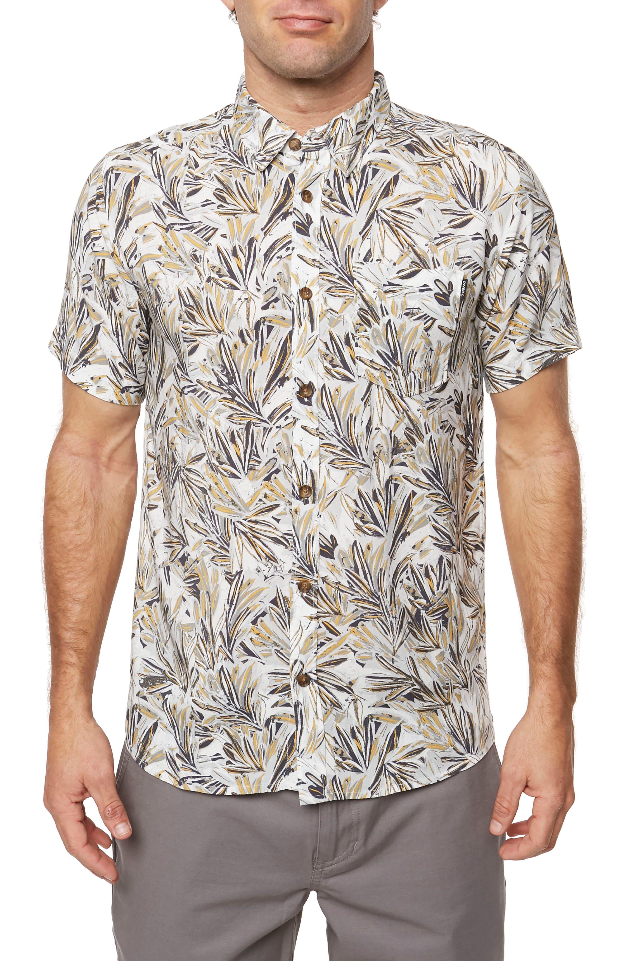 Canvas Woven Shirt,                         Main,                         color, Fog