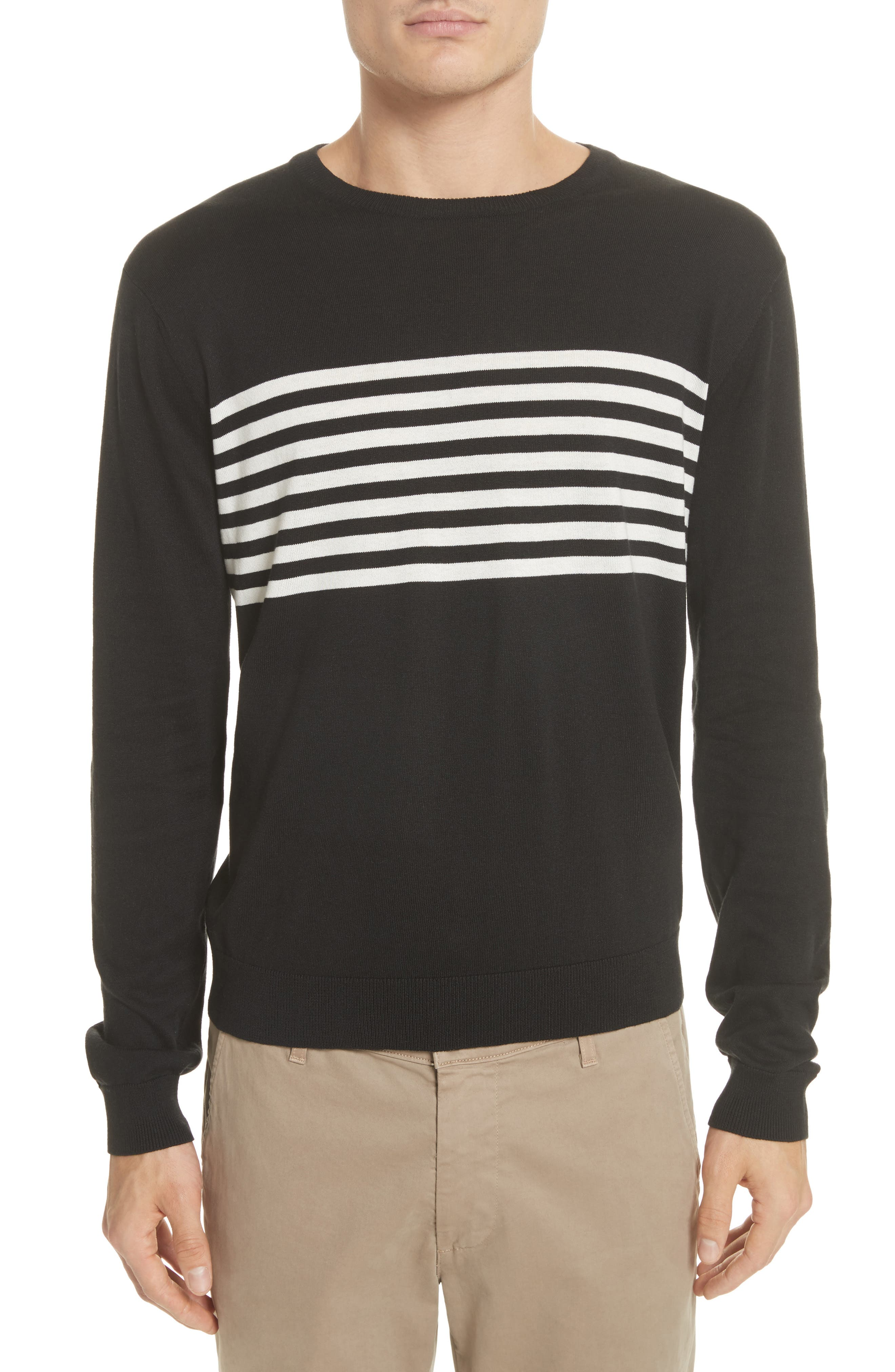 Todd Snyder Stripe Silk & Cotton Sweater