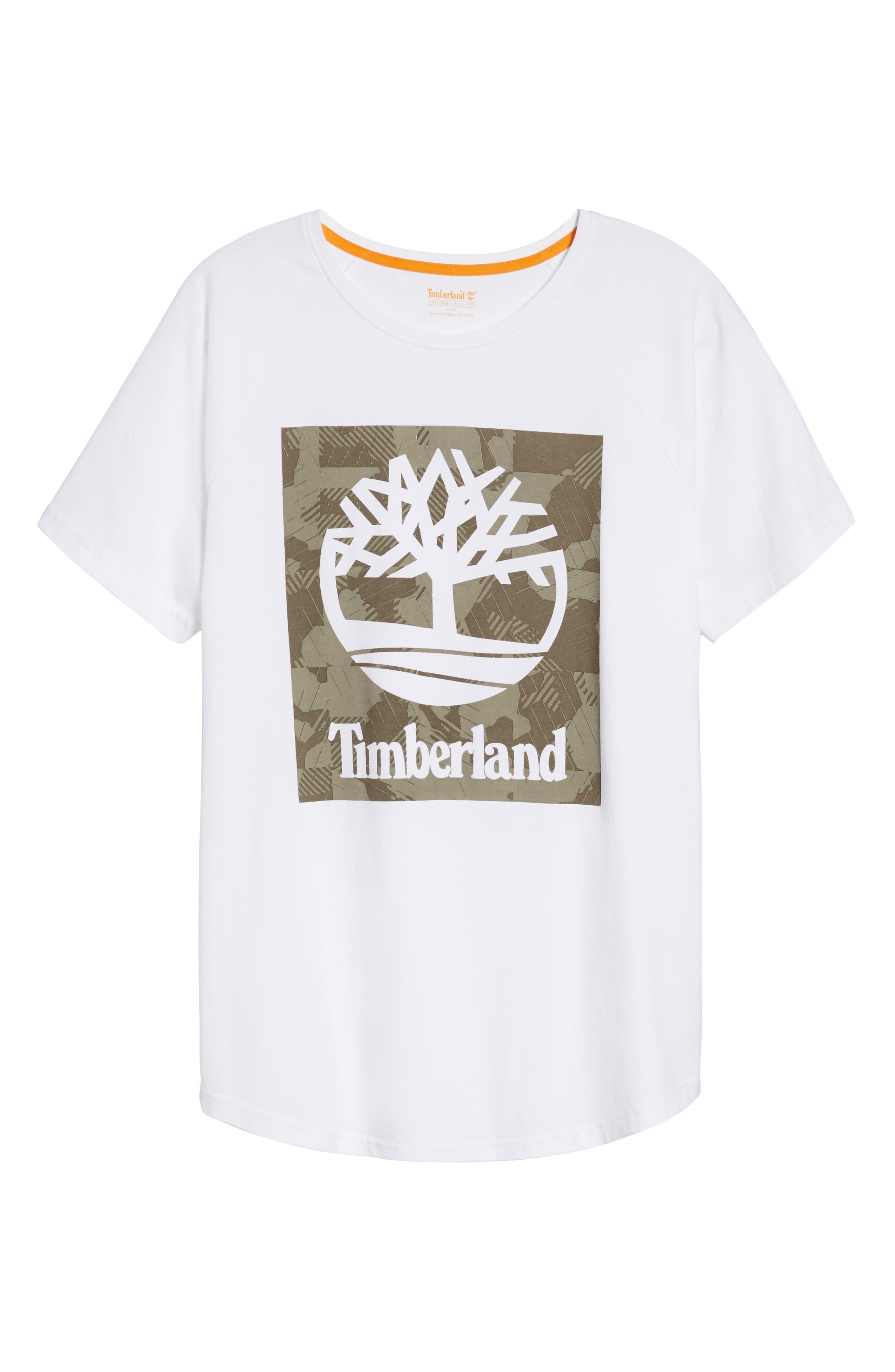 Camo Logo T-Shirt,                             Alternate thumbnail 6, color,                             White