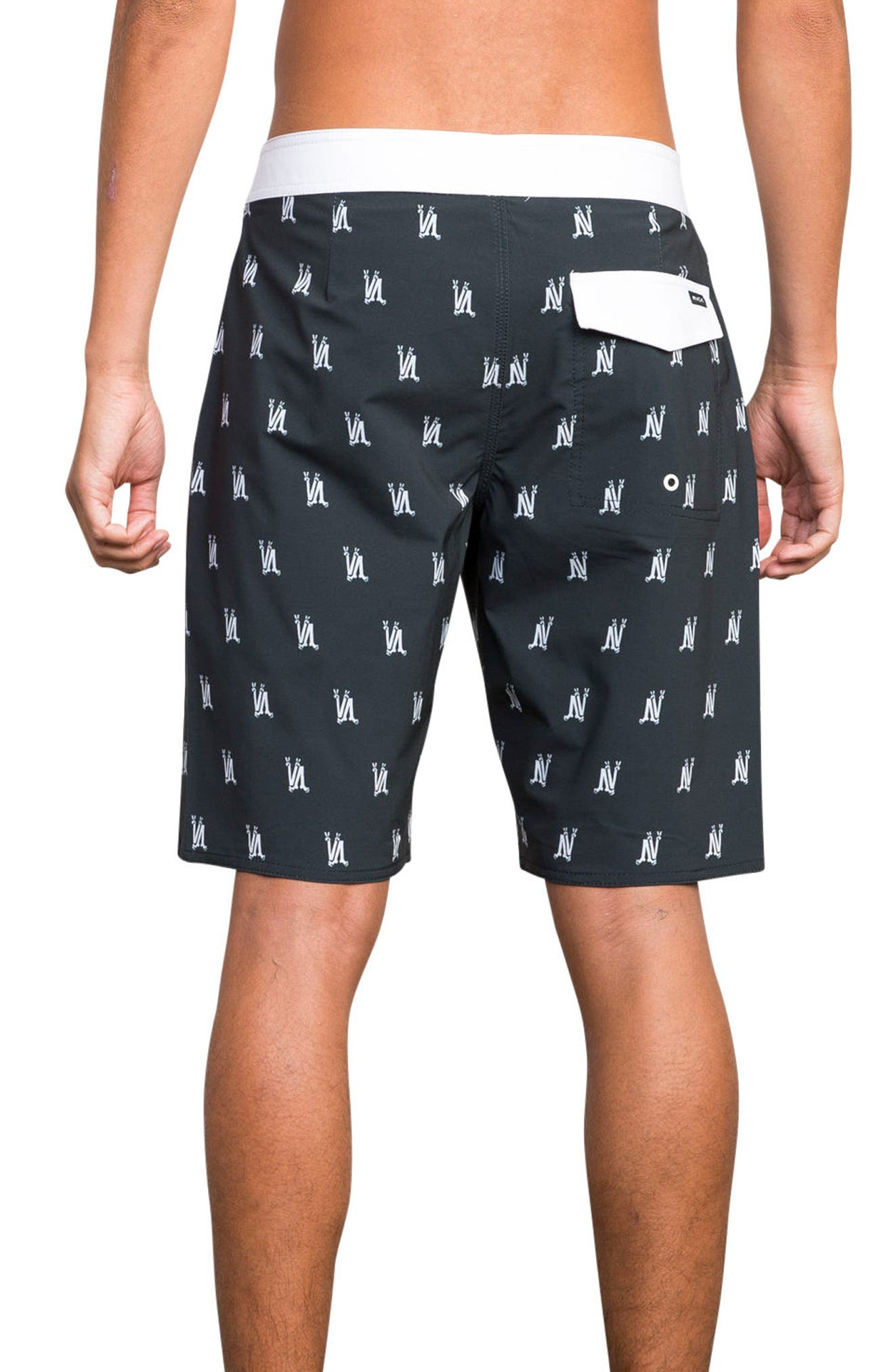 RCVA Saunders Board Shorts,                             Alternate thumbnail 2, color,                             Black