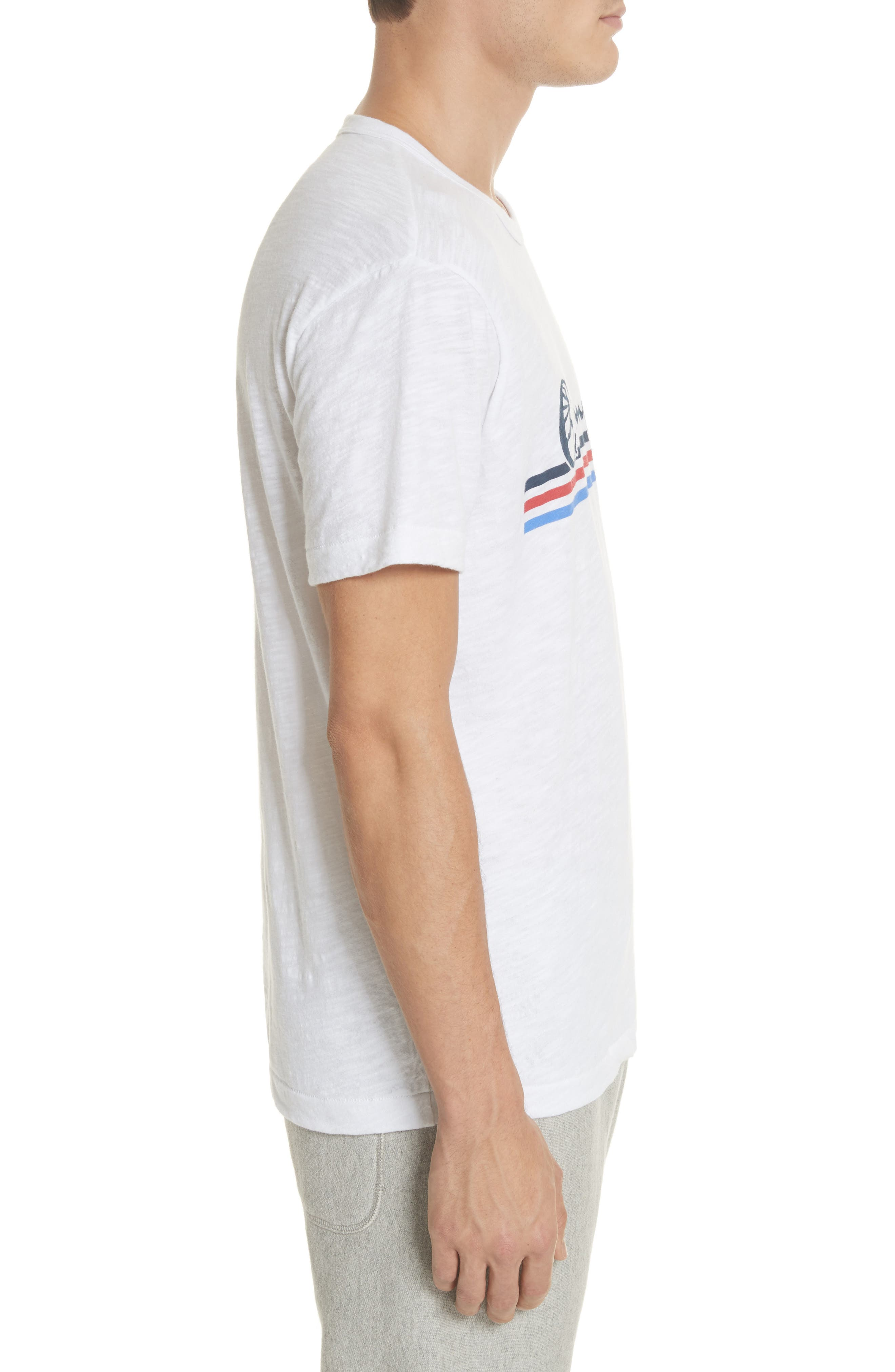 + Champion Stripe Logo T-Shirt,                             Alternate thumbnail 3, color,                             True White