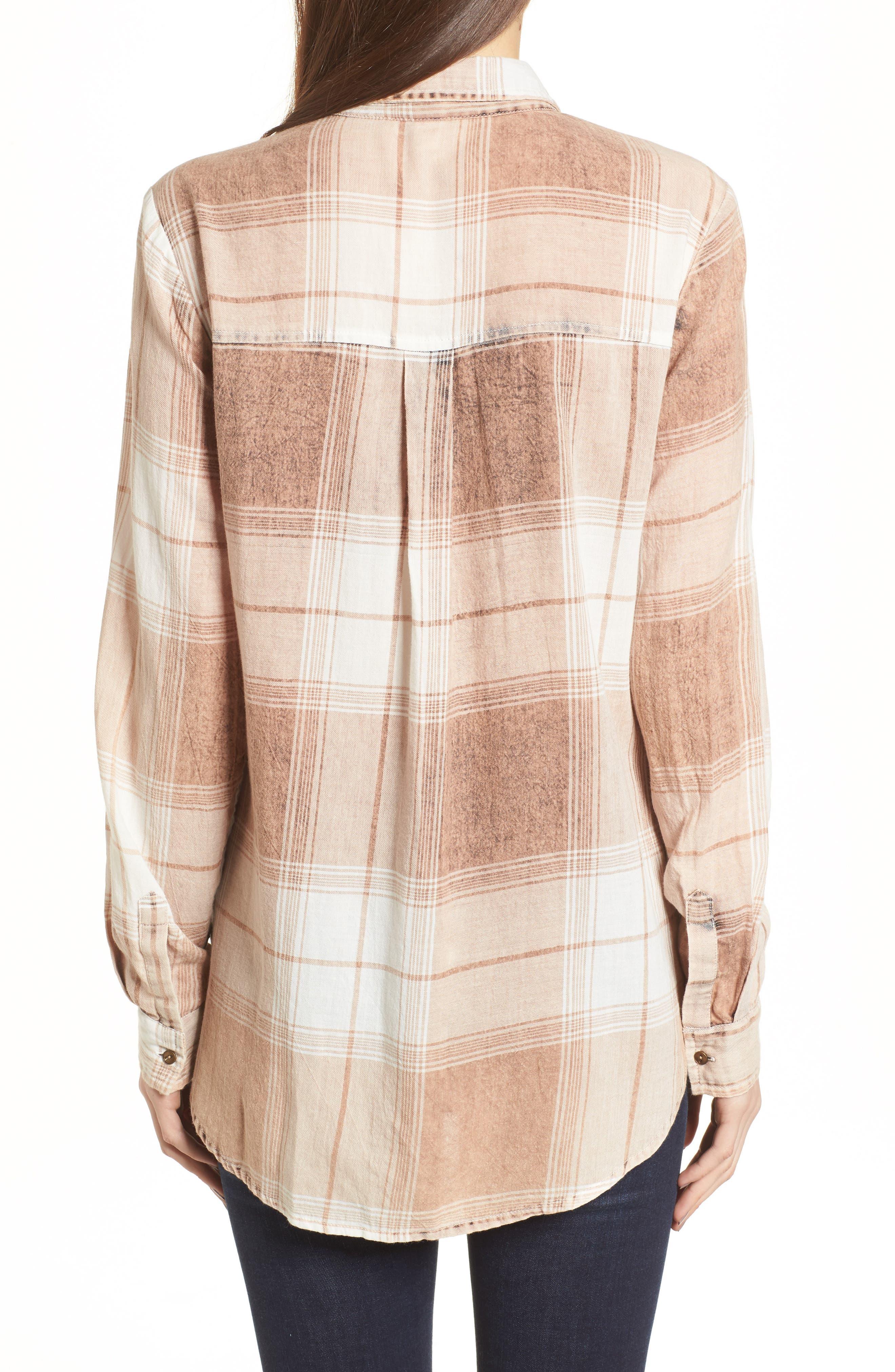 Plaid Button Up Shirt,                             Alternate thumbnail 2, color,                             Tan Nomad Freida Plaid