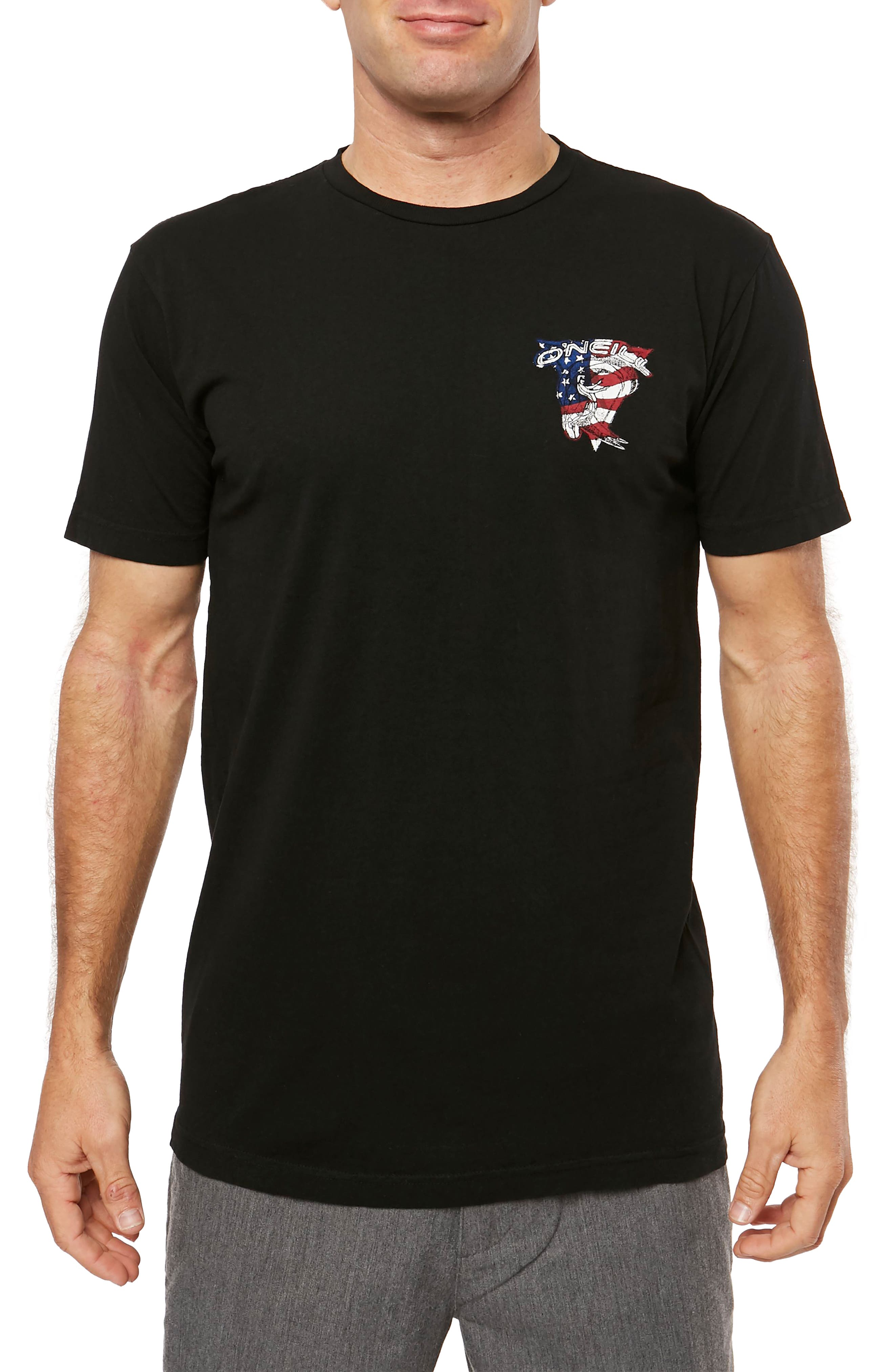 Flagship Graphic T-Shirt,                         Main,                         color, Black