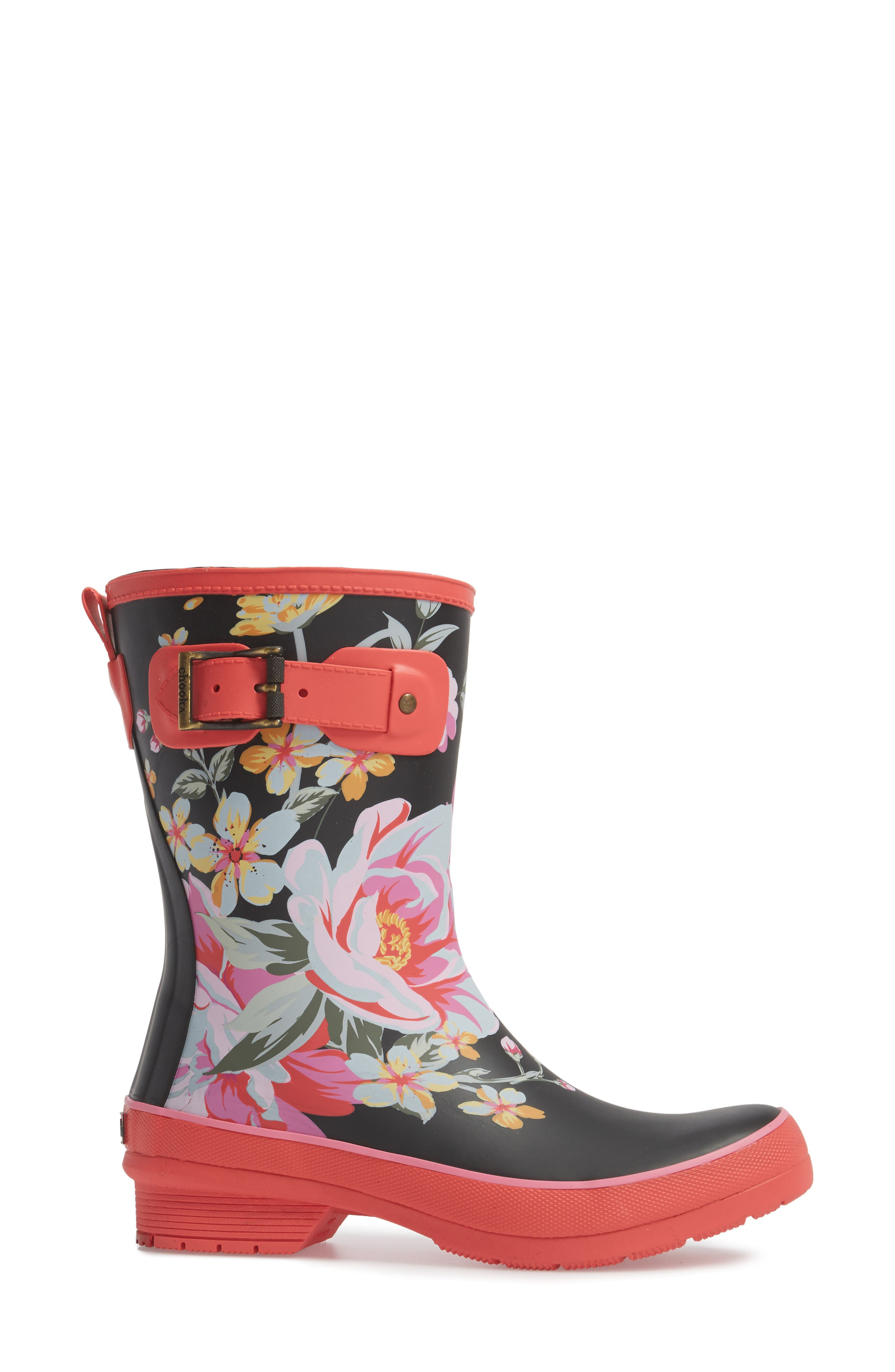 Hilde Mid Rain Boot,                             Alternate thumbnail 3, color,                             Fuchsia
