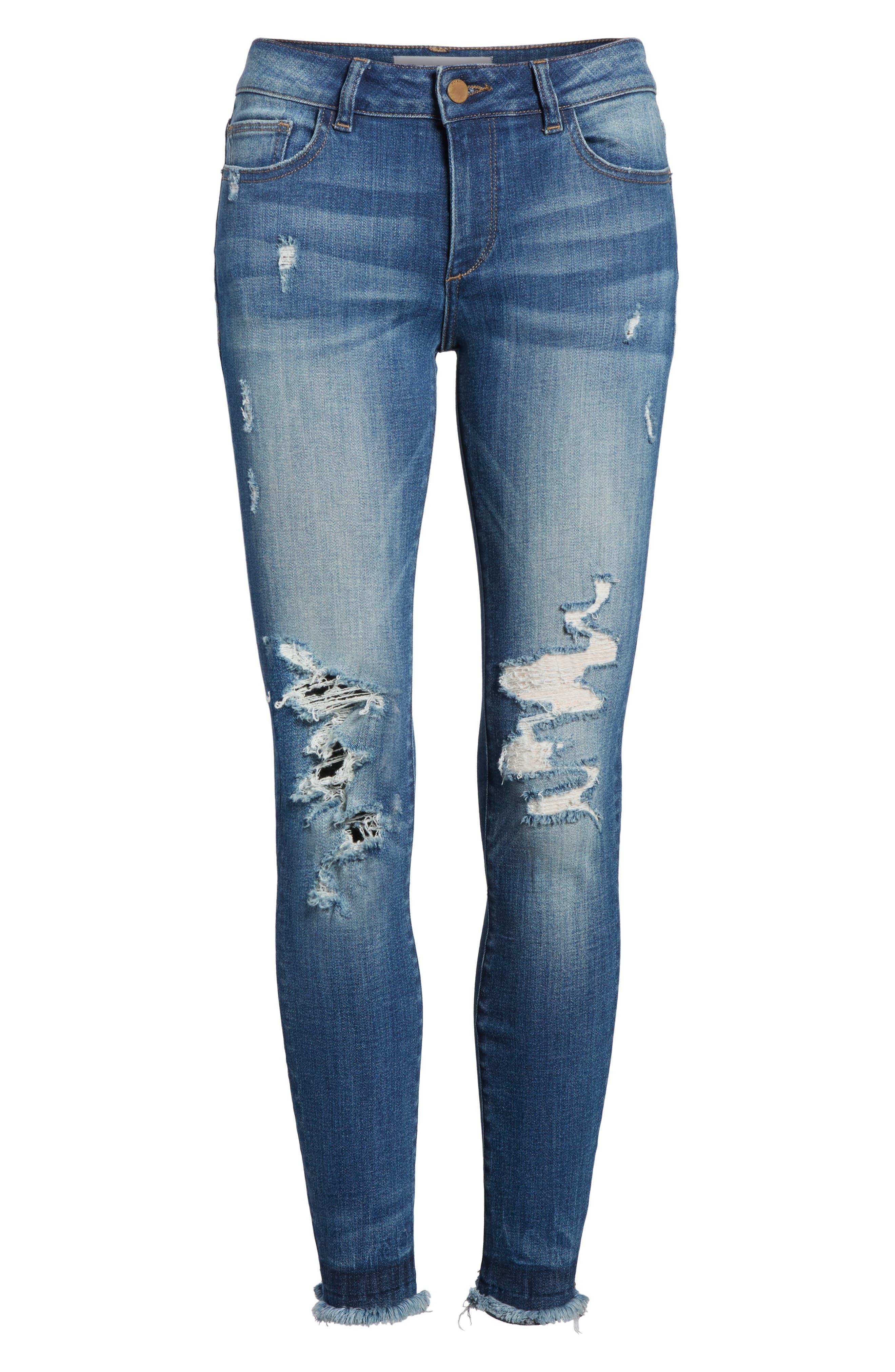 Emma Power Legging Jeans,                             Alternate thumbnail 6, color,                             Westwood