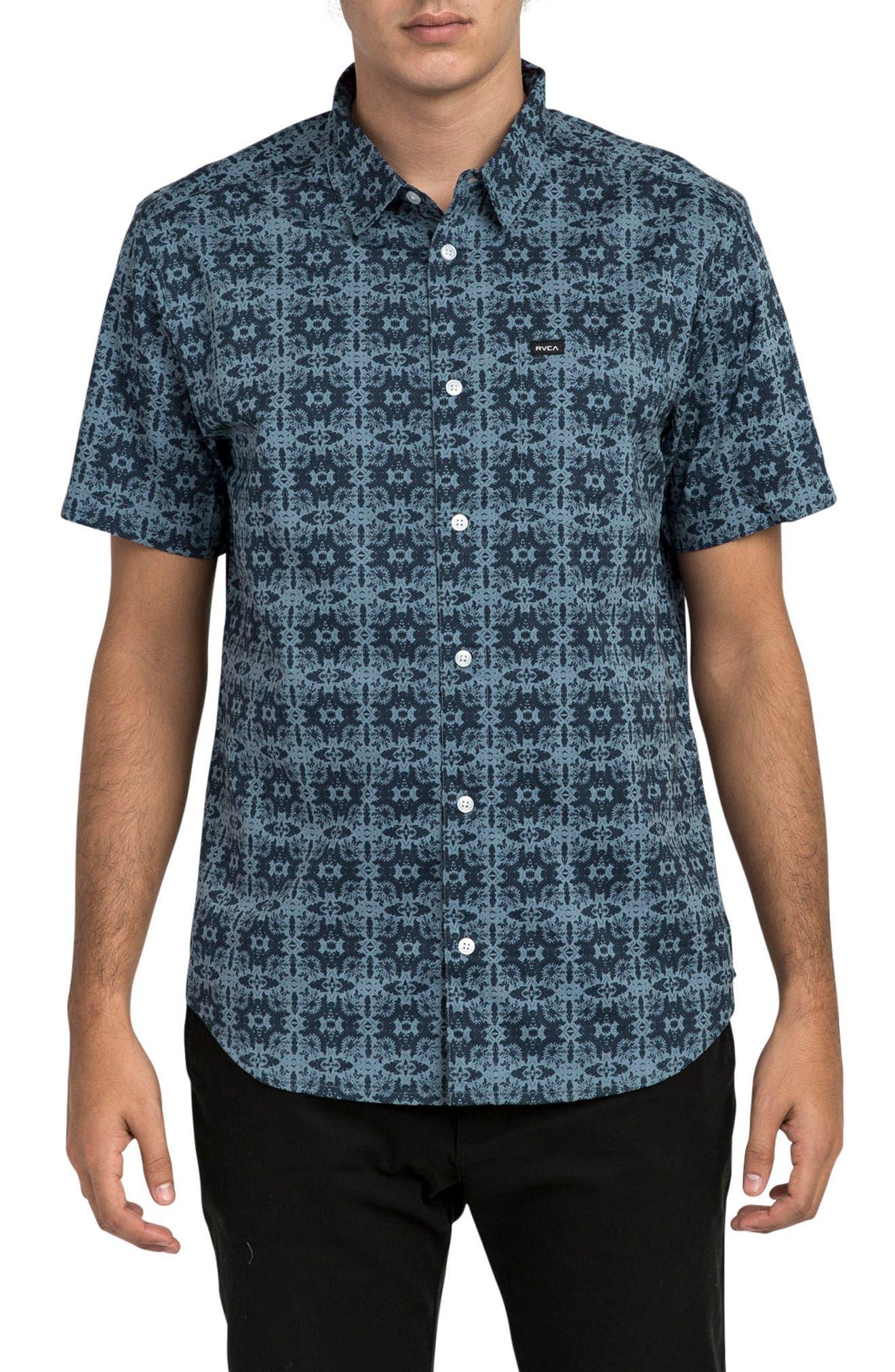 Alternate Image 1 Selected - RVCA Visions Short Sleeve Shirt