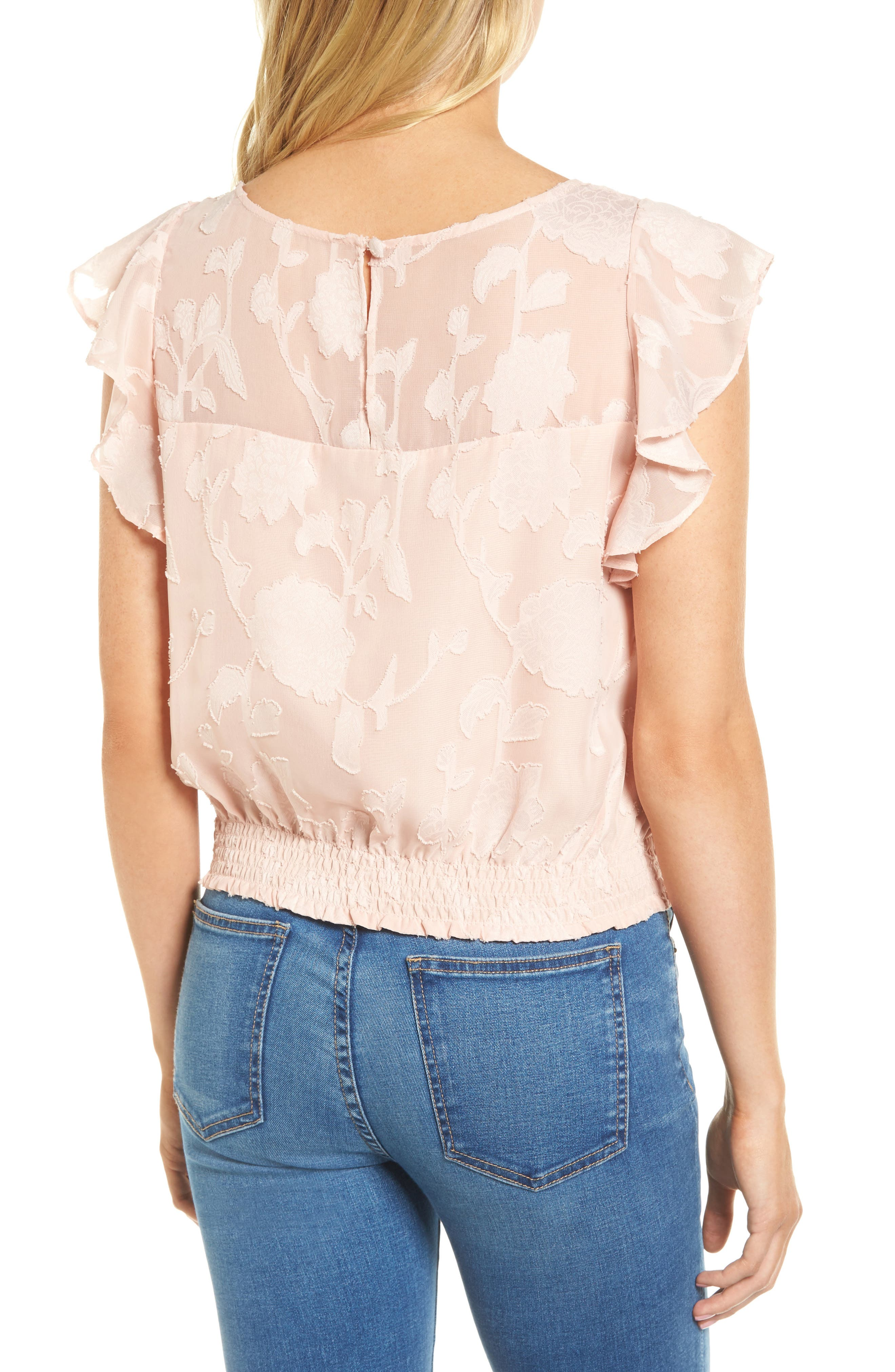 Alternate Image 2  - cupcakes and cashmere Banyan Floral Burnout Top