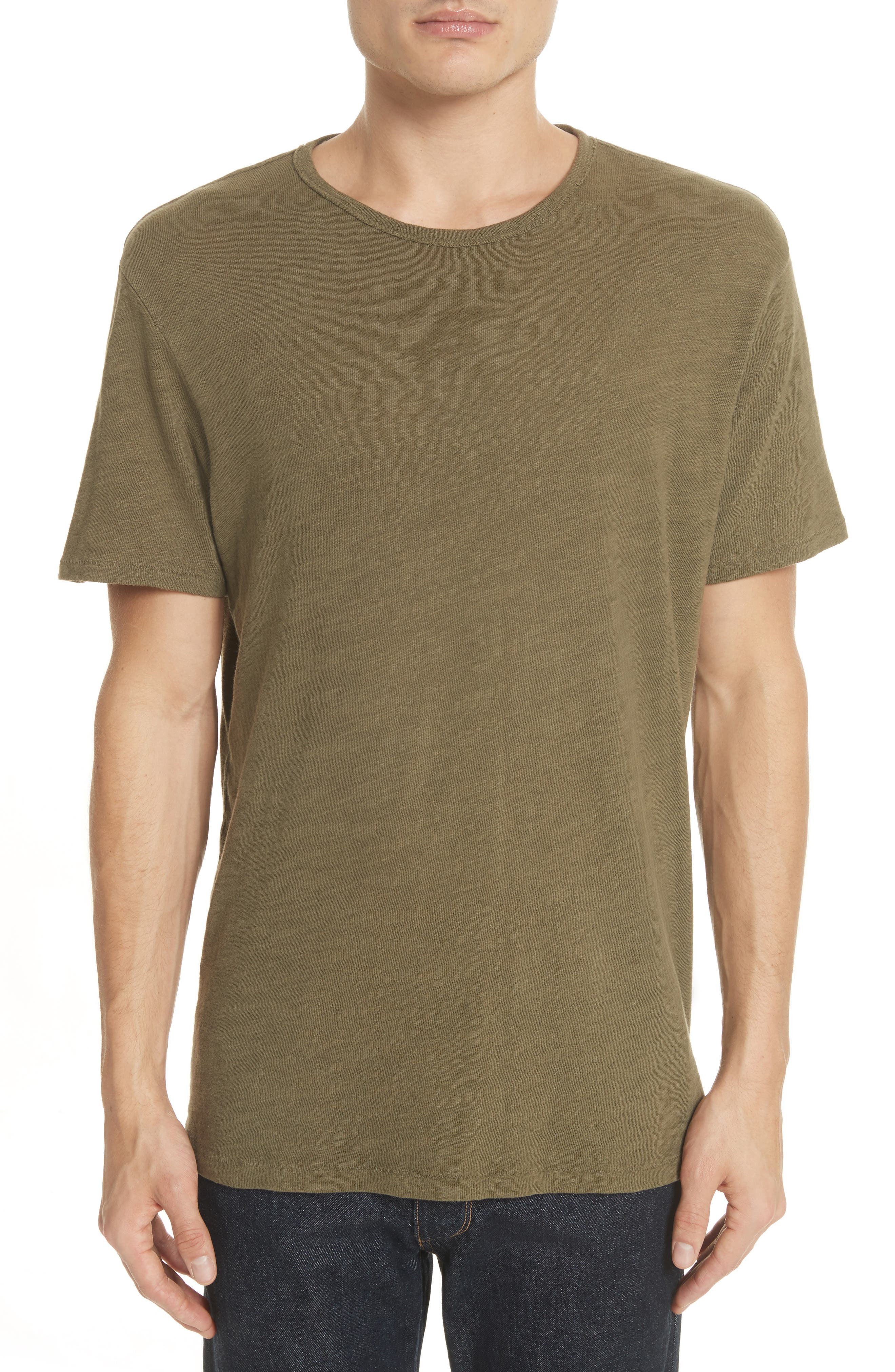 Standard Issue Slubbed Cotton T-Shirt,                         Main,                         color, Army